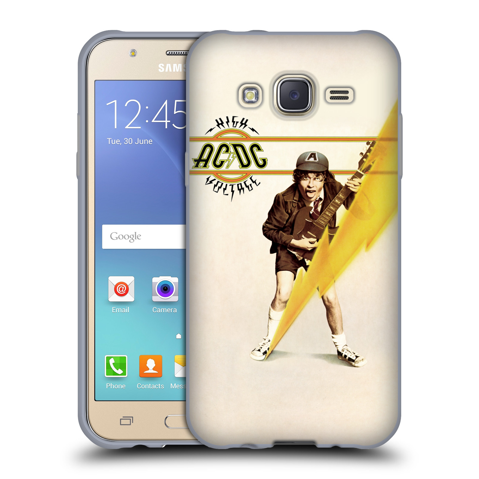 Silikonové pouzdro na mobil Samsung Galaxy J5 HEAD CASE AC/DC High Voltage