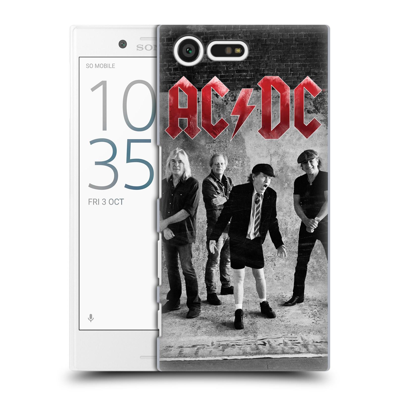 Plastové pouzdro na mobil Sony Xperia X Compact HEAD CASE AC/DC Skupina černobíle