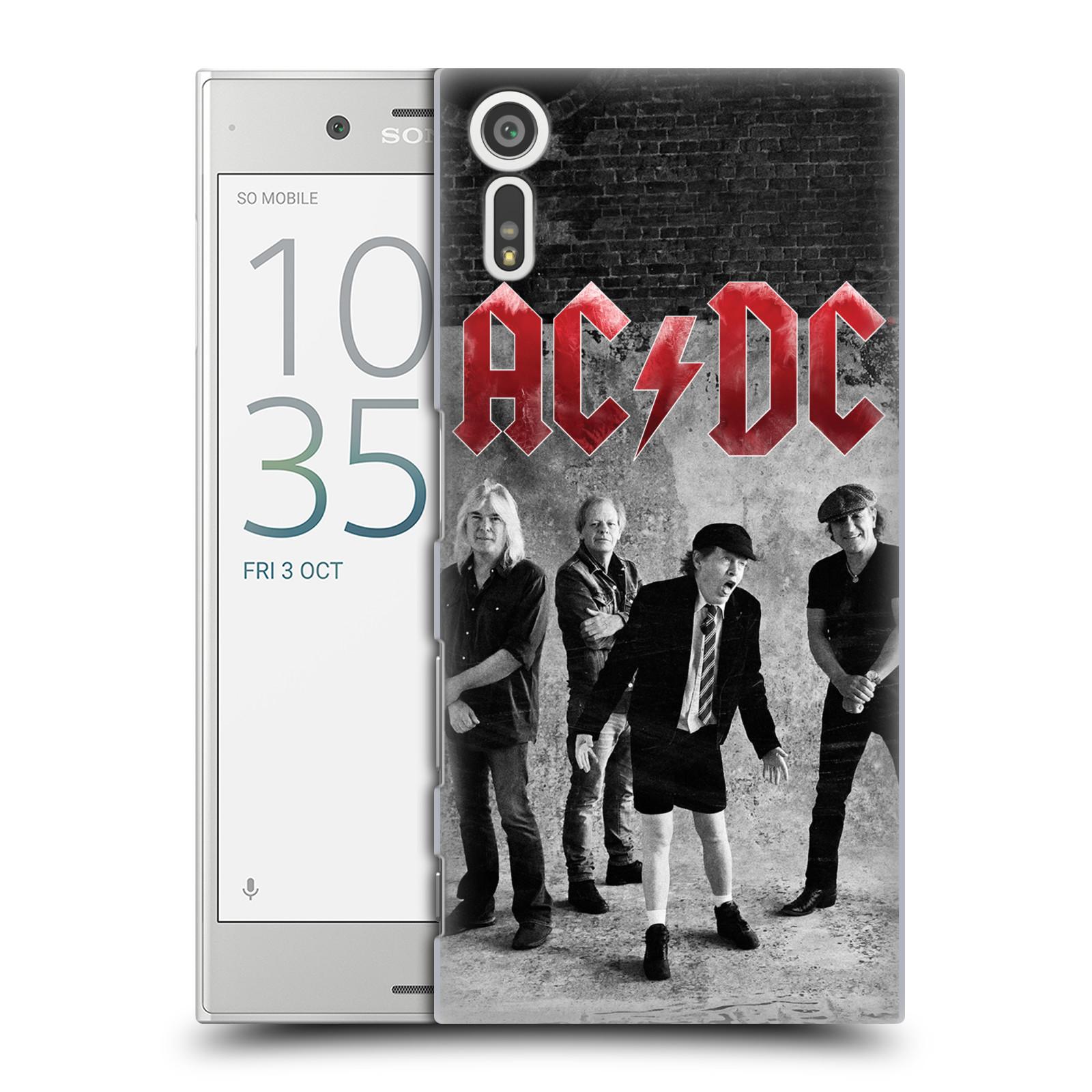 Plastové pouzdro na mobil Sony Xperia XZ - Head Case AC/DC Skupina černobíle
