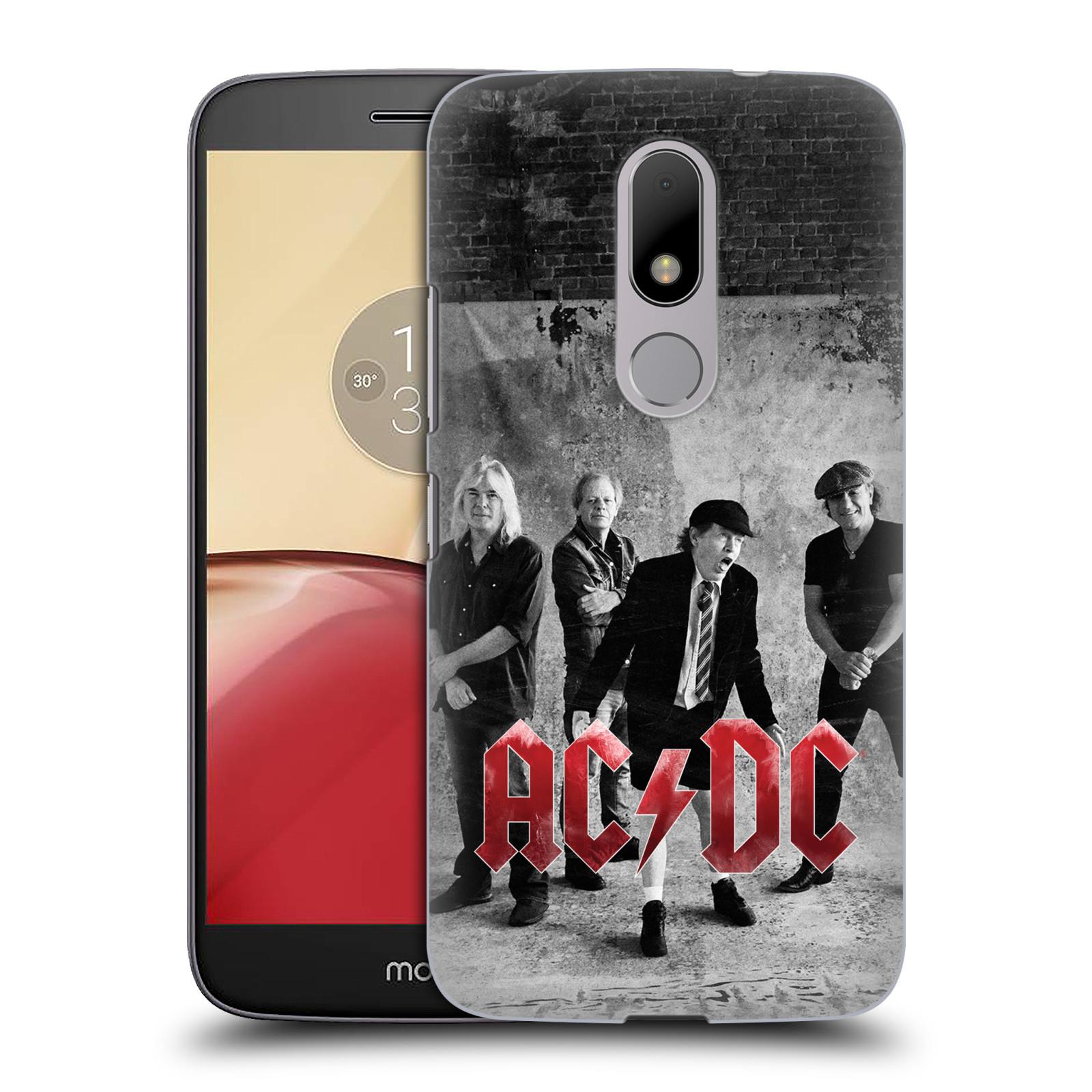Plastové pouzdro na mobil Lenovo Moto M HEAD CASE AC/DC Skupina černobíle (Plastový kryt či obal na mobilní telefon s oficiálním motivem australské skupiny AC/DC pro Lenovo (Motorola) Moto M / Moto M Dual SIM)