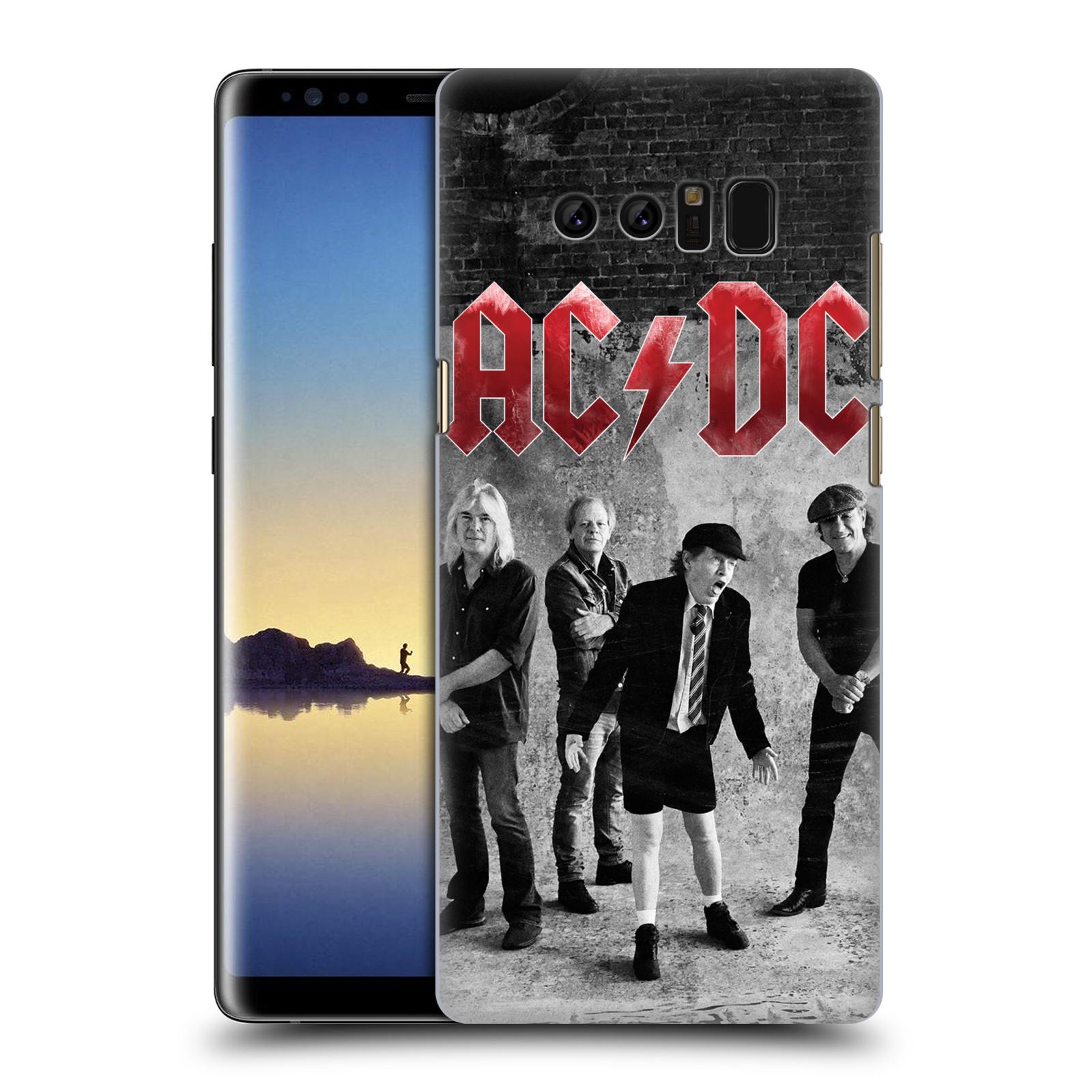 Plastové pouzdro na mobil Samsung Galaxy Note 8 - Head Case - AC/DC Skupina černobíle