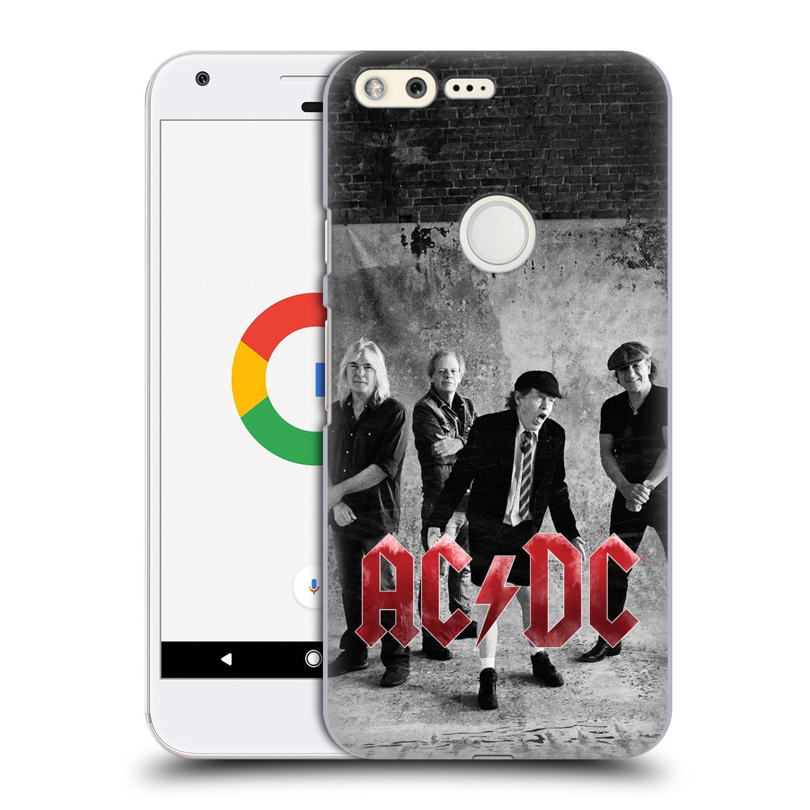 Plastové pouzdro na mobil Google Pixel HEAD CASE AC/DC Skupina černobíle