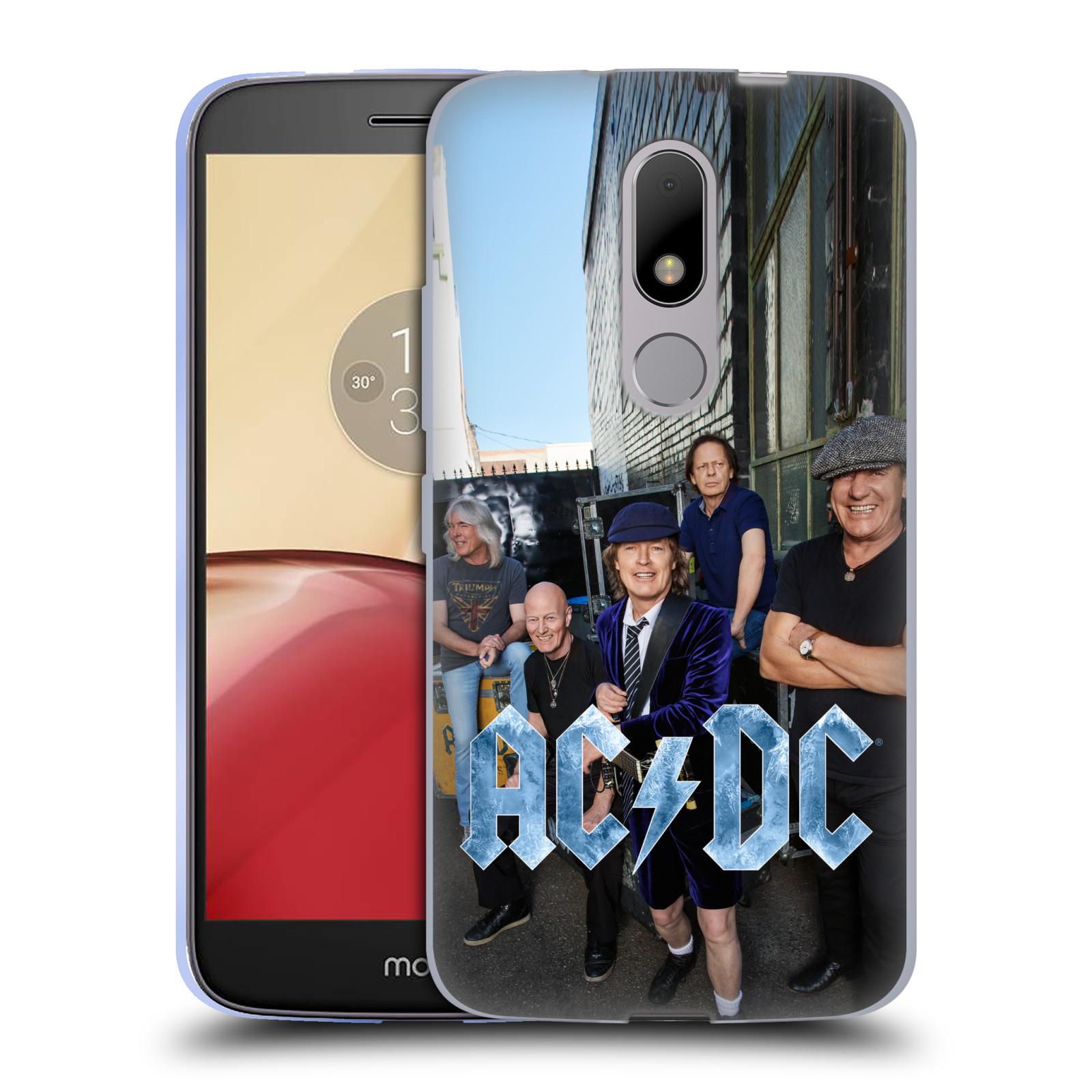 Silikonové pouzdro na mobil Lenovo Moto M - Head Case AC/DC Skupina barevně (Silikonový kryt či obal na mobilní telefon s oficiálním motivem australské skupiny AC/DC pro Lenovo Moto M (Dual Sim))