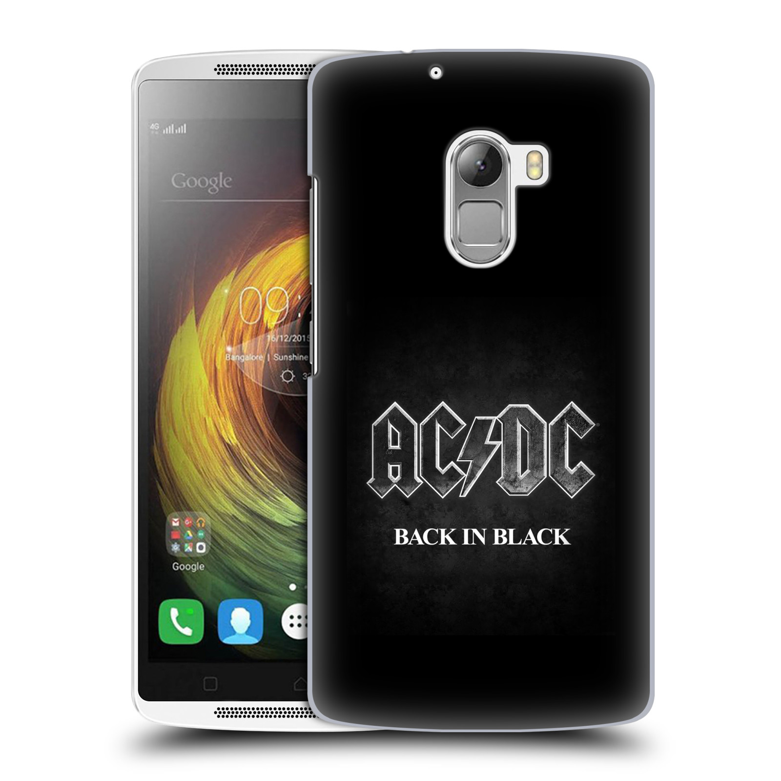 Plastové pouzdro na mobil Lenovo A7010 HEAD CASE AC/DC BACK IN BLACK