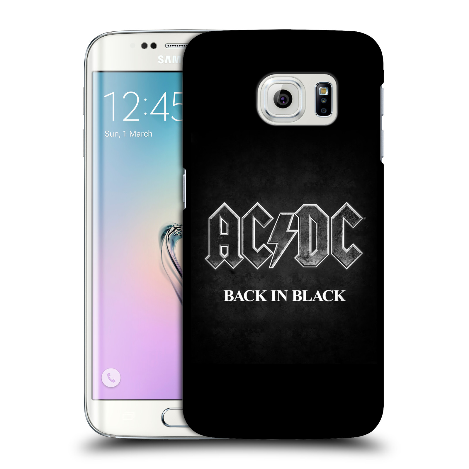 Plastové pouzdro na mobil Samsung Galaxy S6 Edge HEAD CASE AC/DC BACK IN BLACK