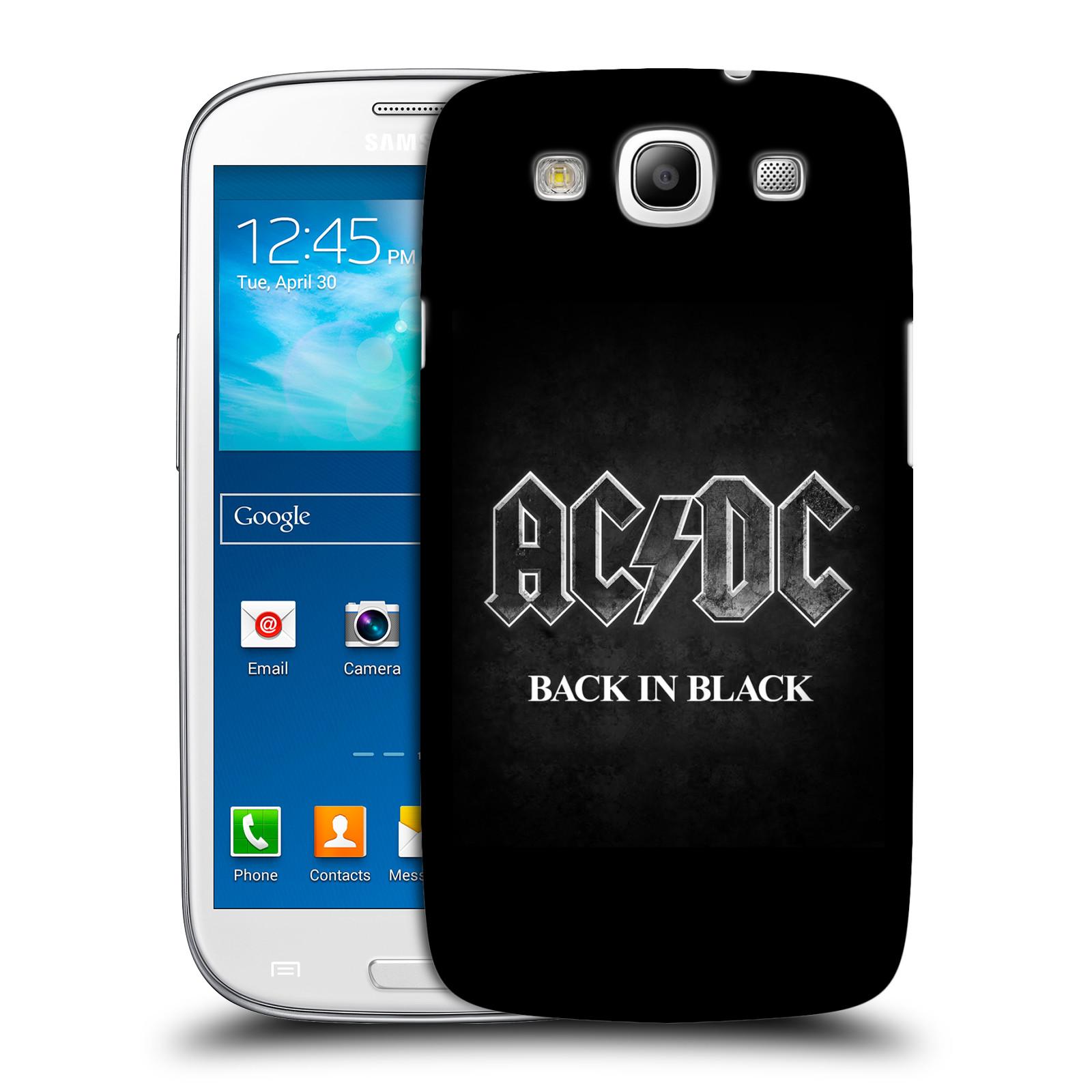 Plastové pouzdro na mobil Samsung Galaxy S III HEAD CASE AC/DC BACK IN BLACK