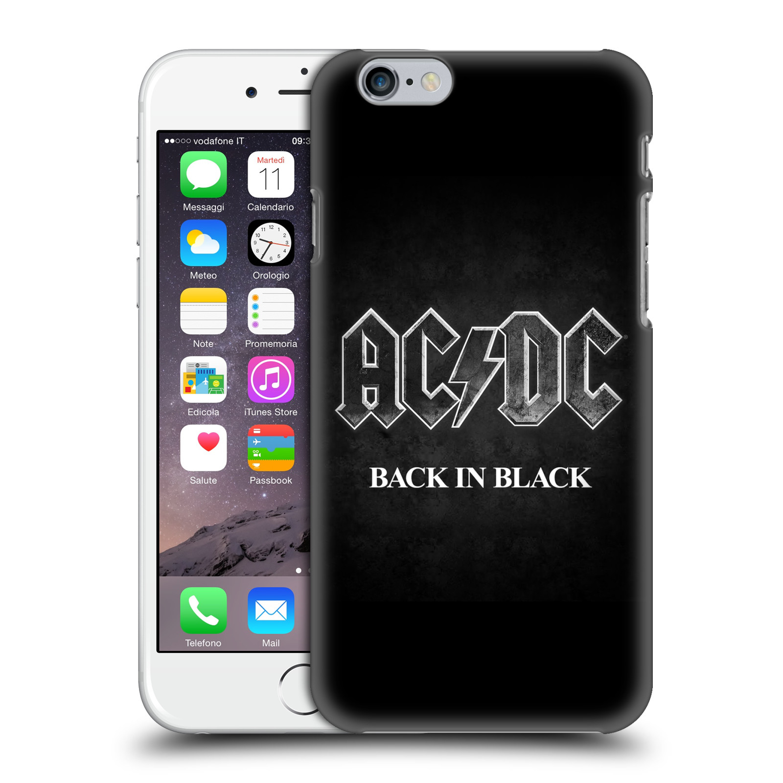 Plastové pouzdro na mobil Apple iPhone 6 HEAD CASE AC/DC BACK IN BLACK