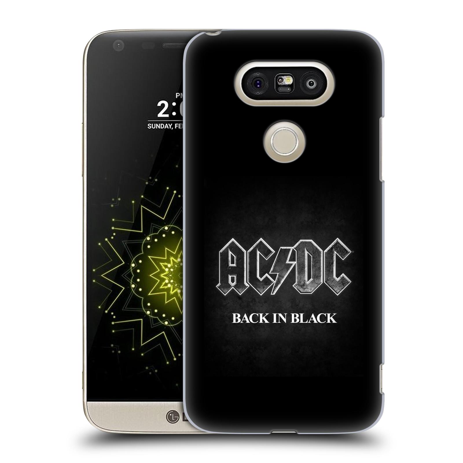 Plastové pouzdro na mobil LG G5 SE - Head Case - AC/DC BACK IN BLACK (Plastový kryt či obal na mobilní telefon LG G5 SE H840 s motivem AC/DC BACK IN BLACK)