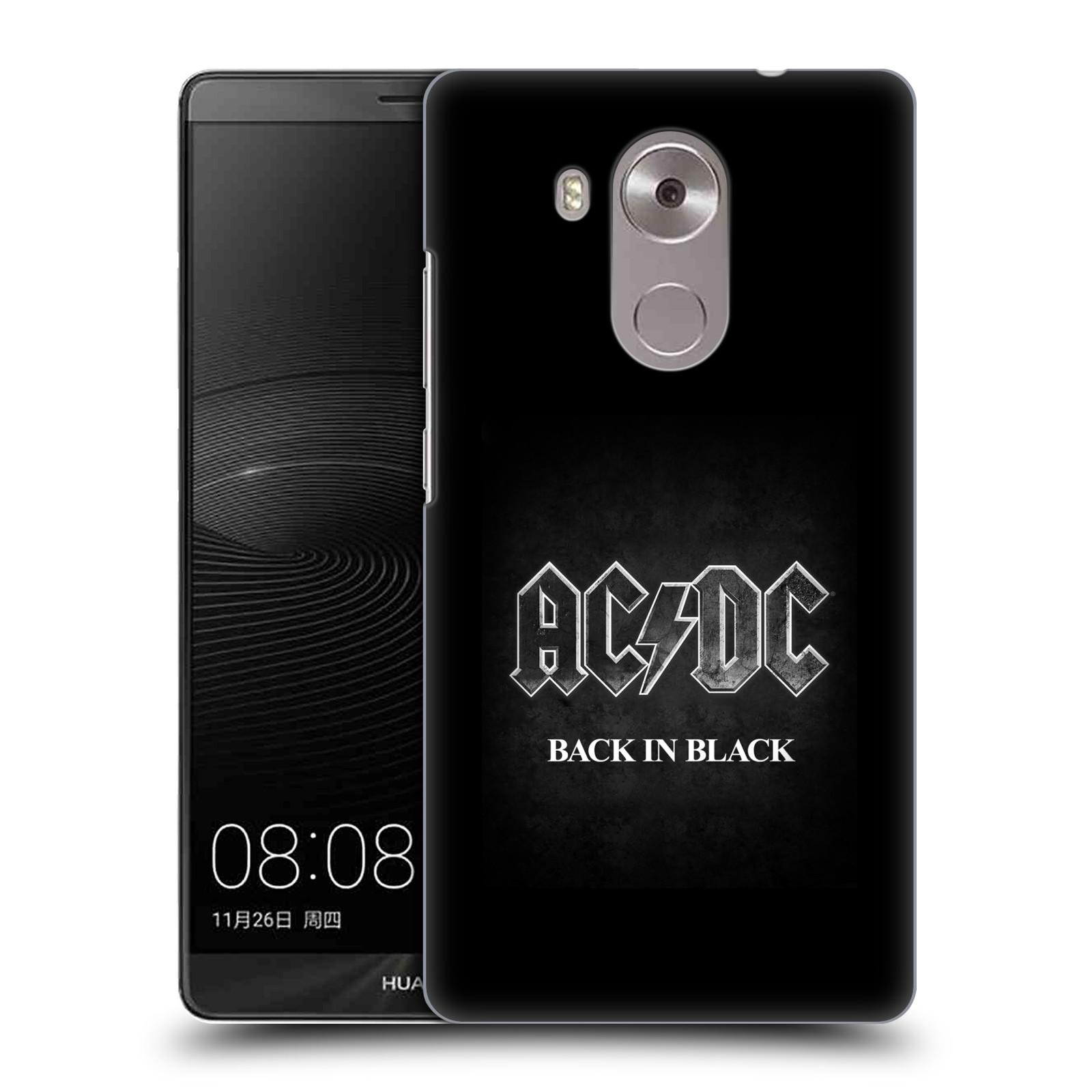 Plastové pouzdro na mobil Huawei Mate 8 HEAD CASE AC/DC BACK IN BLACK (Plastový kryt či obal na mobilní telefon s oficiálním motivem australské skupiny AC/DC pro Huawei Ascend MATE8)