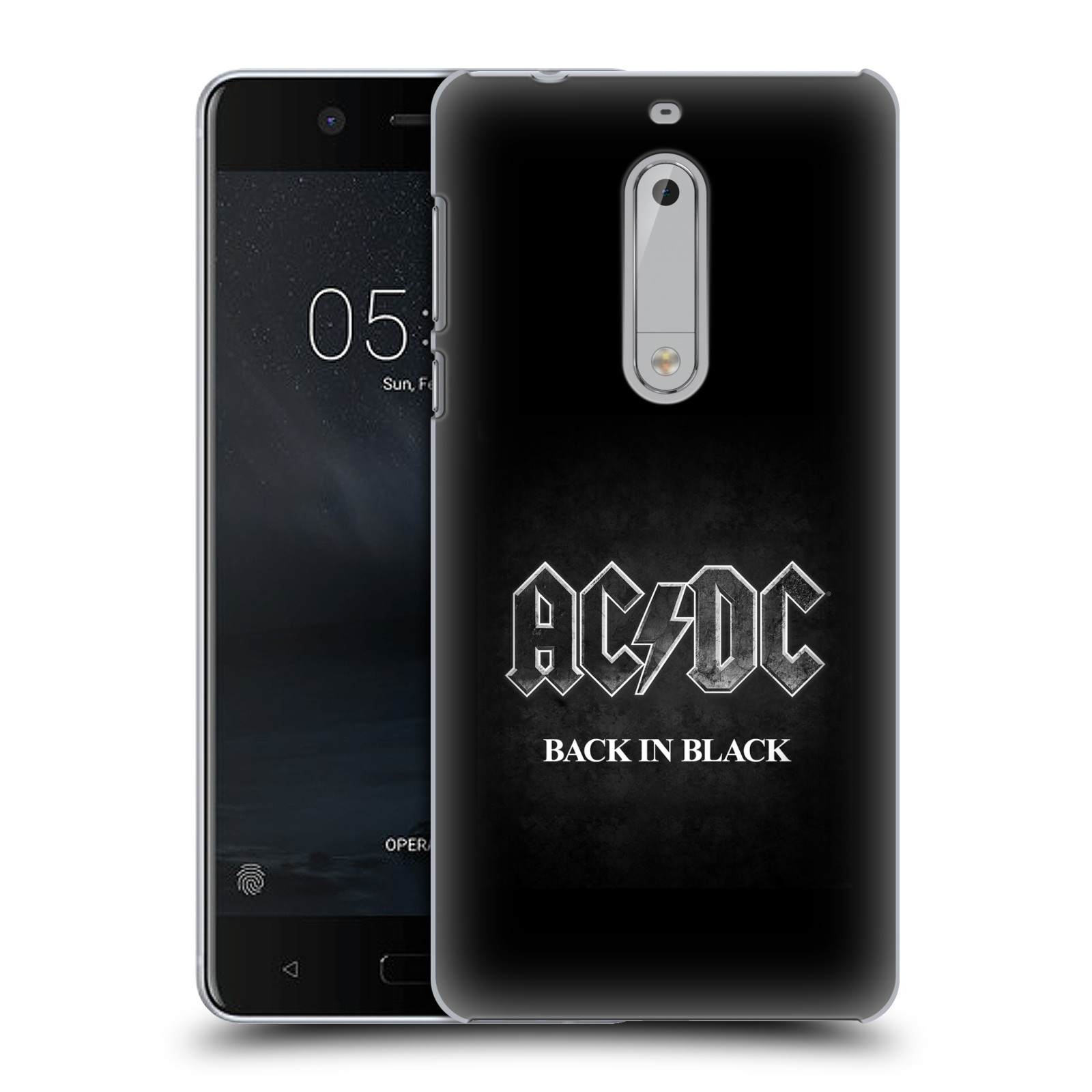 Plastové pouzdro na mobil Nokia 5 Head Case - AC/DC BACK IN BLACK