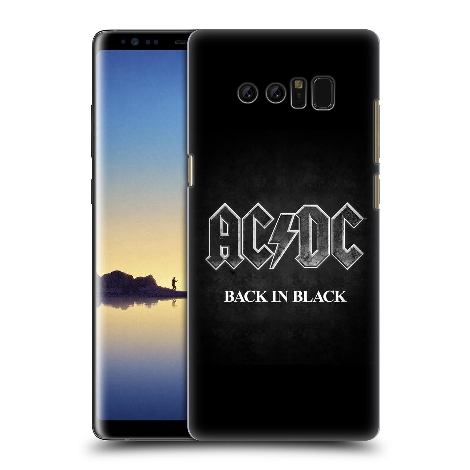 Plastové pouzdro na mobil Samsung Galaxy Note 8 - Head Case - AC/DC BACK IN BLACK (Plastový kryt či obal na mobilní telefon Samsung Galaxy Note 8 SM-N950 s motivem AC/DC BACK IN BLACK)