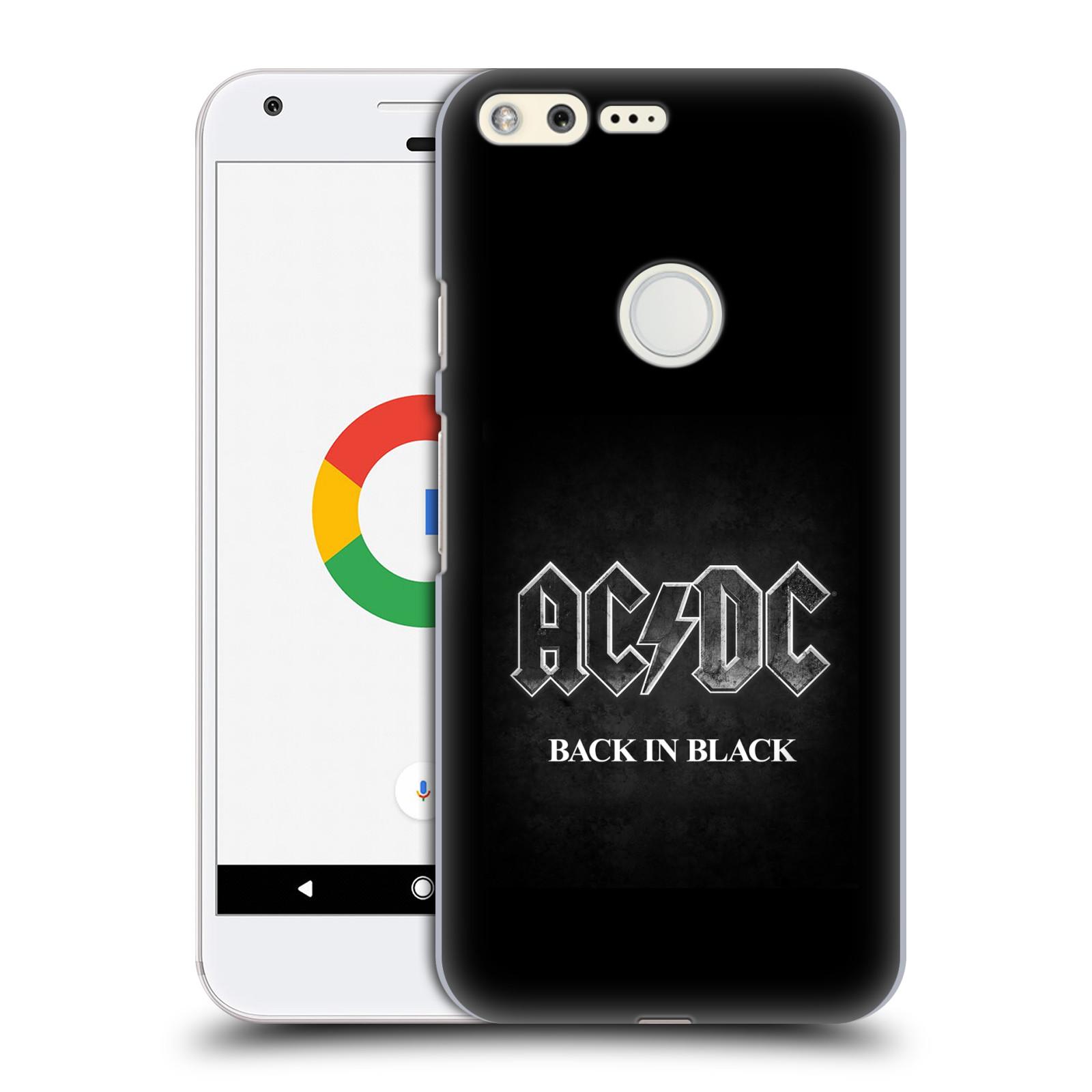 Plastové pouzdro na mobil Google Pixel HEAD CASE AC/DC BACK IN BLACK