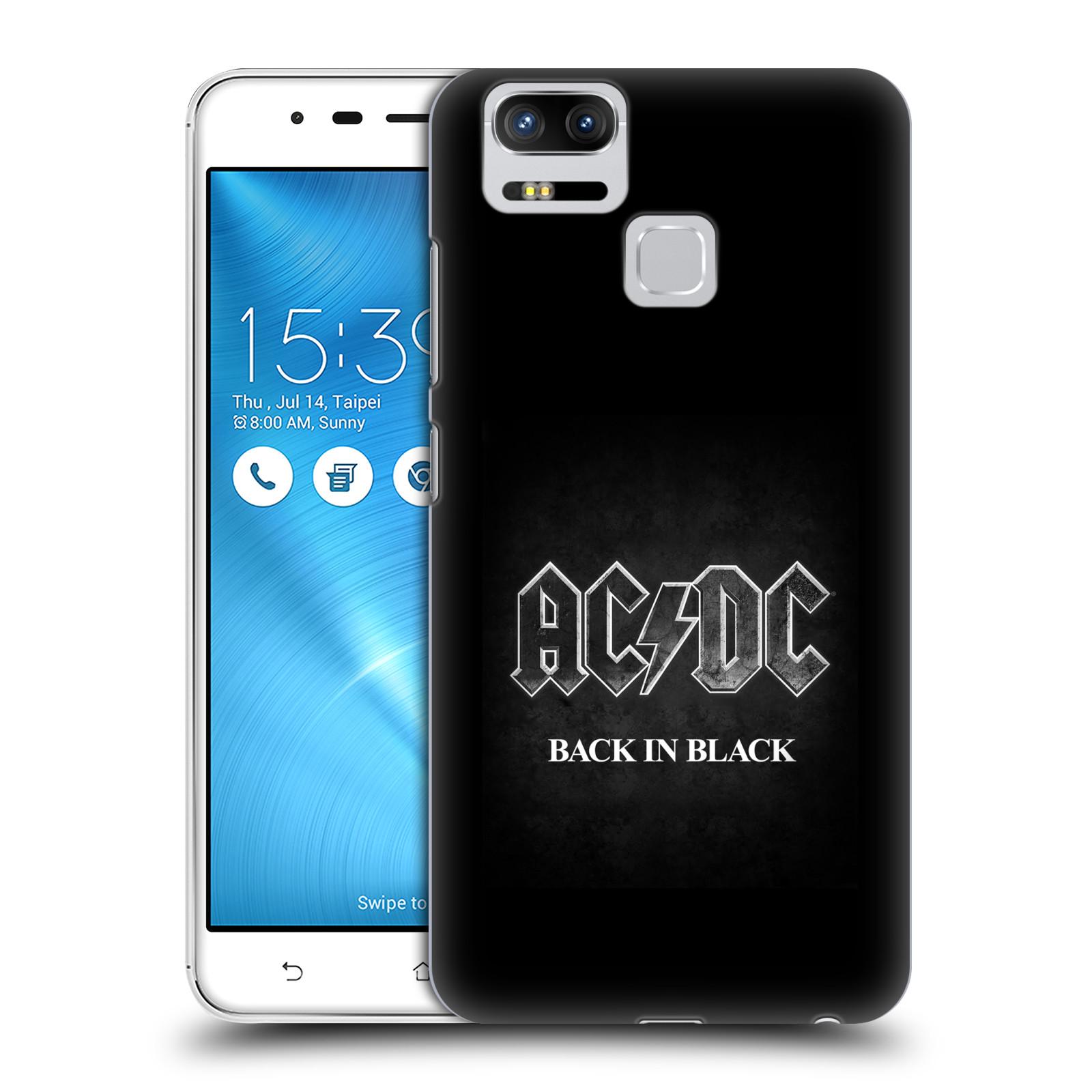 Plastové pouzdro na mobil Asus ZenFone 3 ZOOM ZE553KL - Head Case - AC/DC BACK IN BLACK (Plastový kryt či obal na mobilní telefon Asus ZenFone 3 ZOOM ZE553KL s motivem AC/DC BACK IN BLACK)