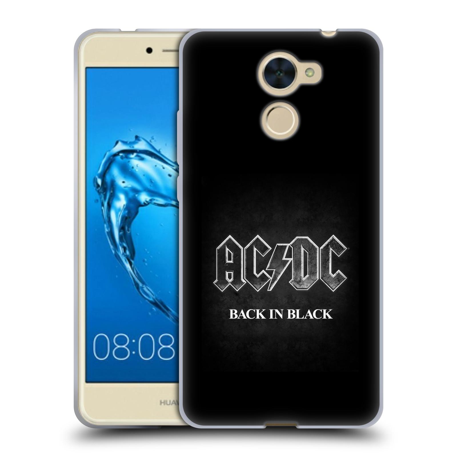 Silikonové pouzdro na mobil Huawei Y7 - Head Case - AC/DC BACK IN BLACK