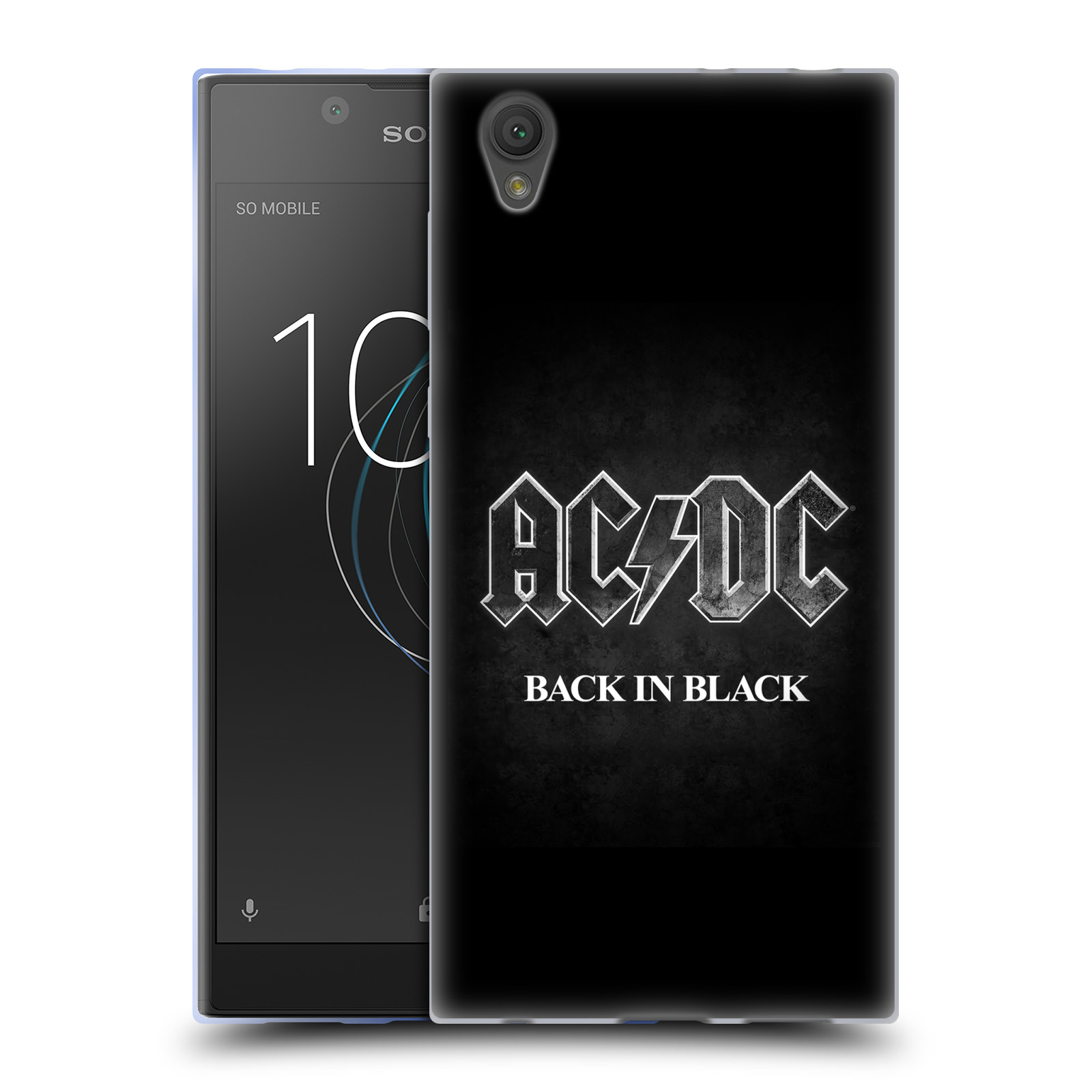 Silikonové pouzdro na mobil Sony Xperia L1 - Head Case - AC/DC BACK IN BLACK