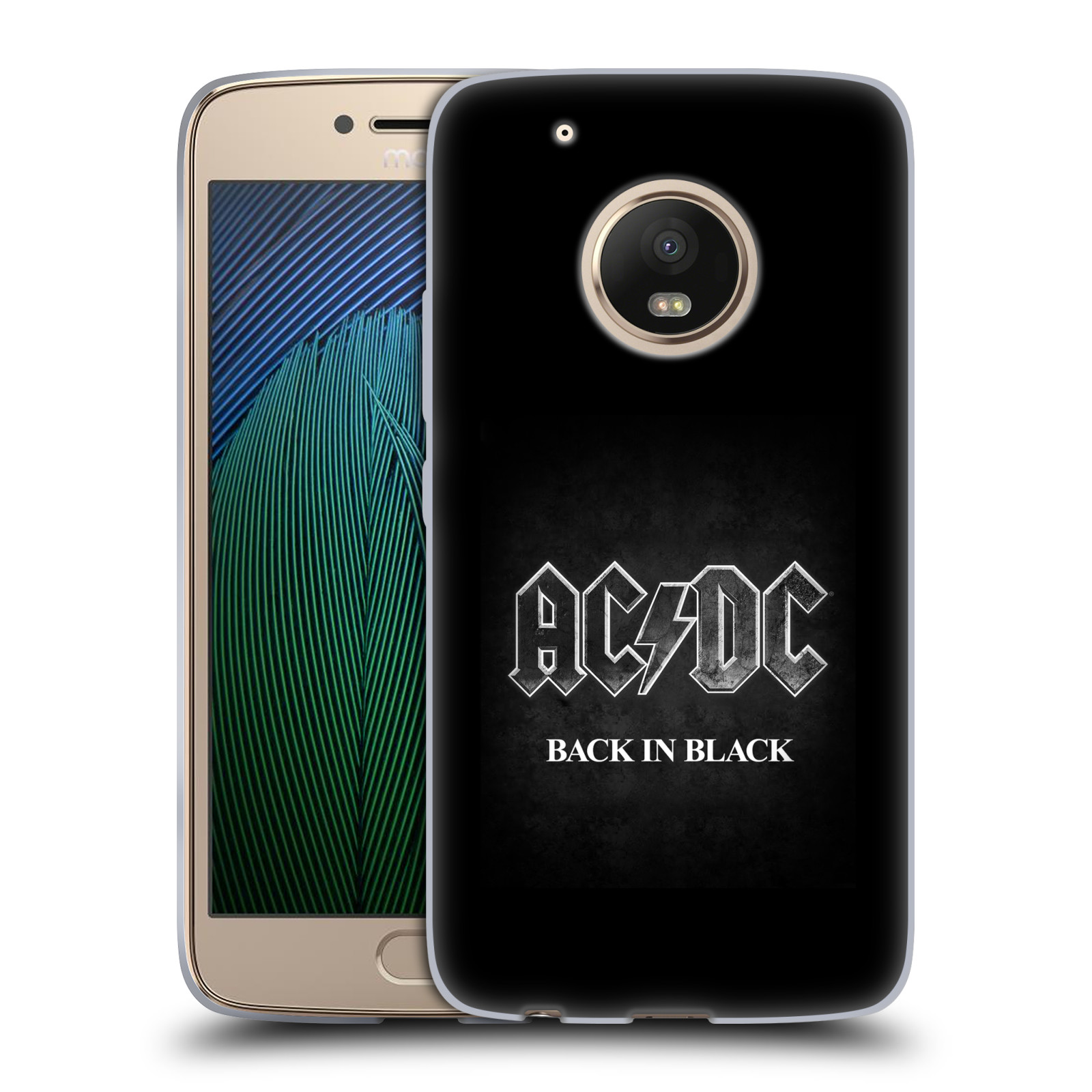 Silikonové pouzdro na mobil Lenovo Moto G5 Plus - Head Case AC/DC BACK IN BLACK