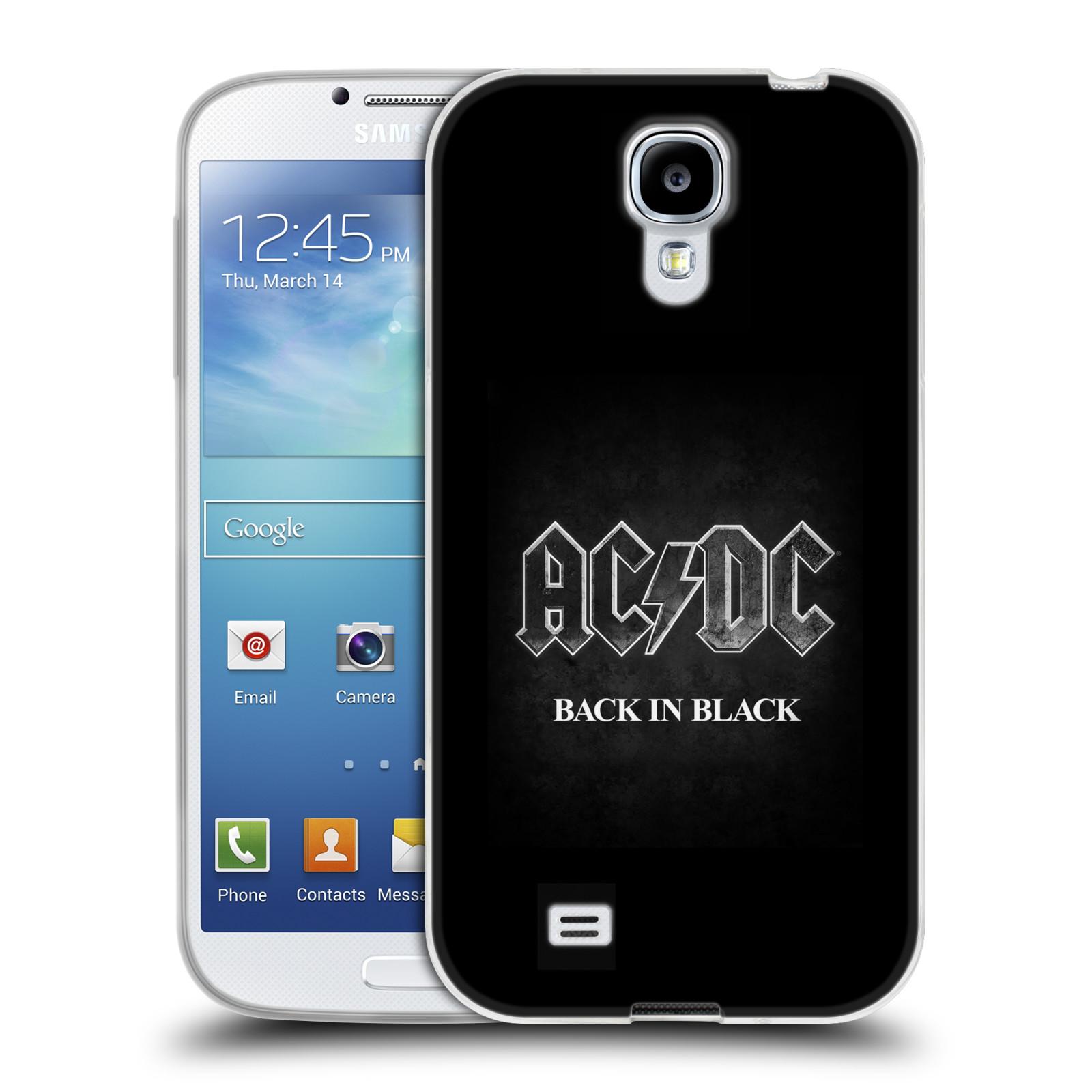 Silikonové pouzdro na mobil Samsung Galaxy S4 HEAD CASE AC/DC BACK IN BLACK (Silikonový kryt či obal na mobilní telefon s oficiálním motivem australské skupiny AC/DC pro Samsung Galaxy S4 GT-i9505 / i9500)
