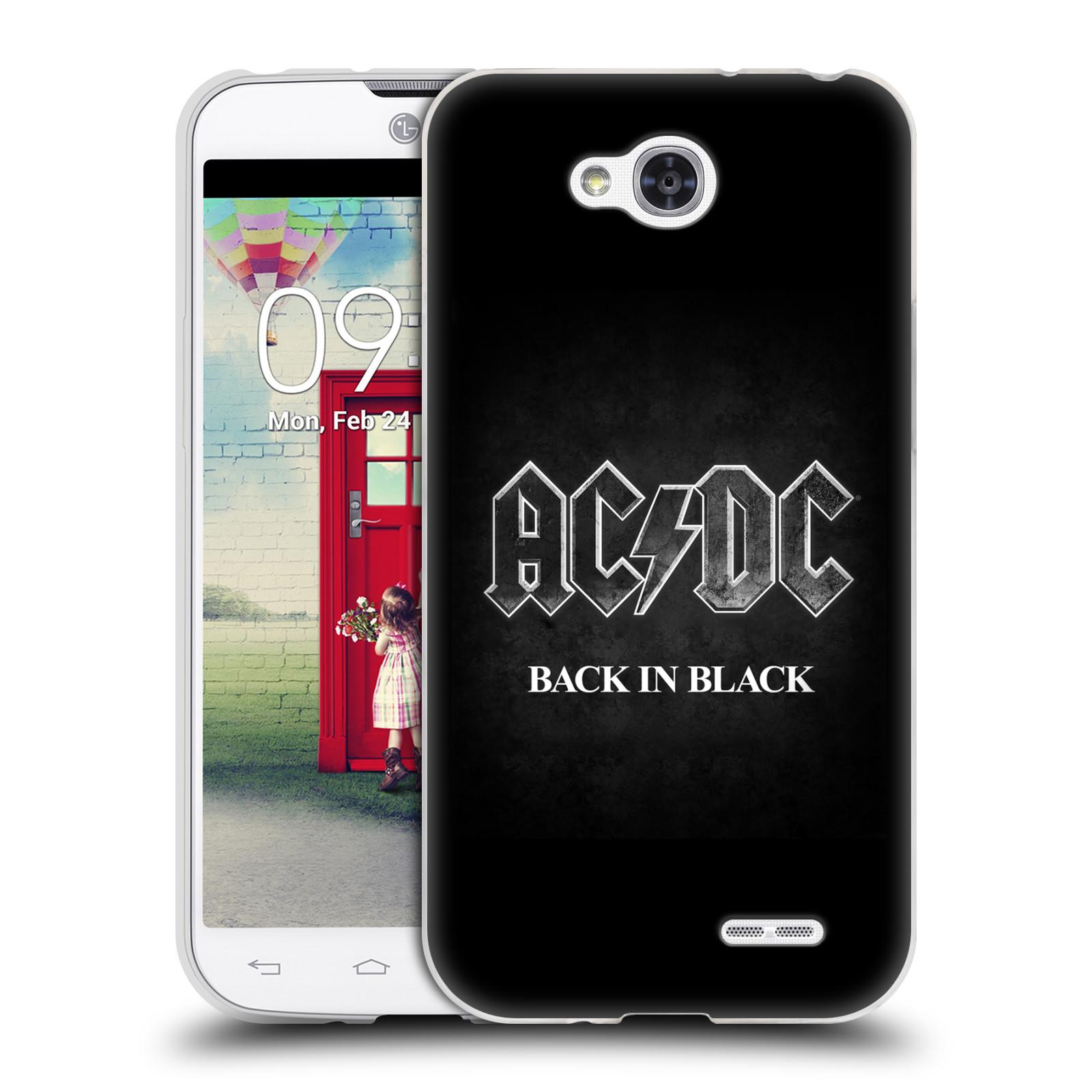 Silikonové pouzdro na mobil LG L90 HEAD CASE AC/DC BACK IN BLACK (Silikonový kryt či obal na mobilní telefon s oficiálním motivem australské skupiny AC/DC pro LG L90 D405n)