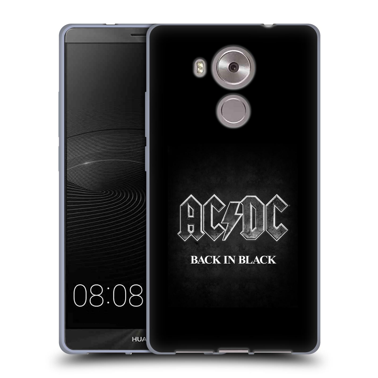 Silikonové pouzdro na mobil Huawei Ascend Mate 8 HEAD CASE AC/DC BACK IN BLACK (Silikonový kryt či obal na mobilní telefon s oficiálním motivem australské skupiny AC/DC pro Huawei Ascend MATE8)