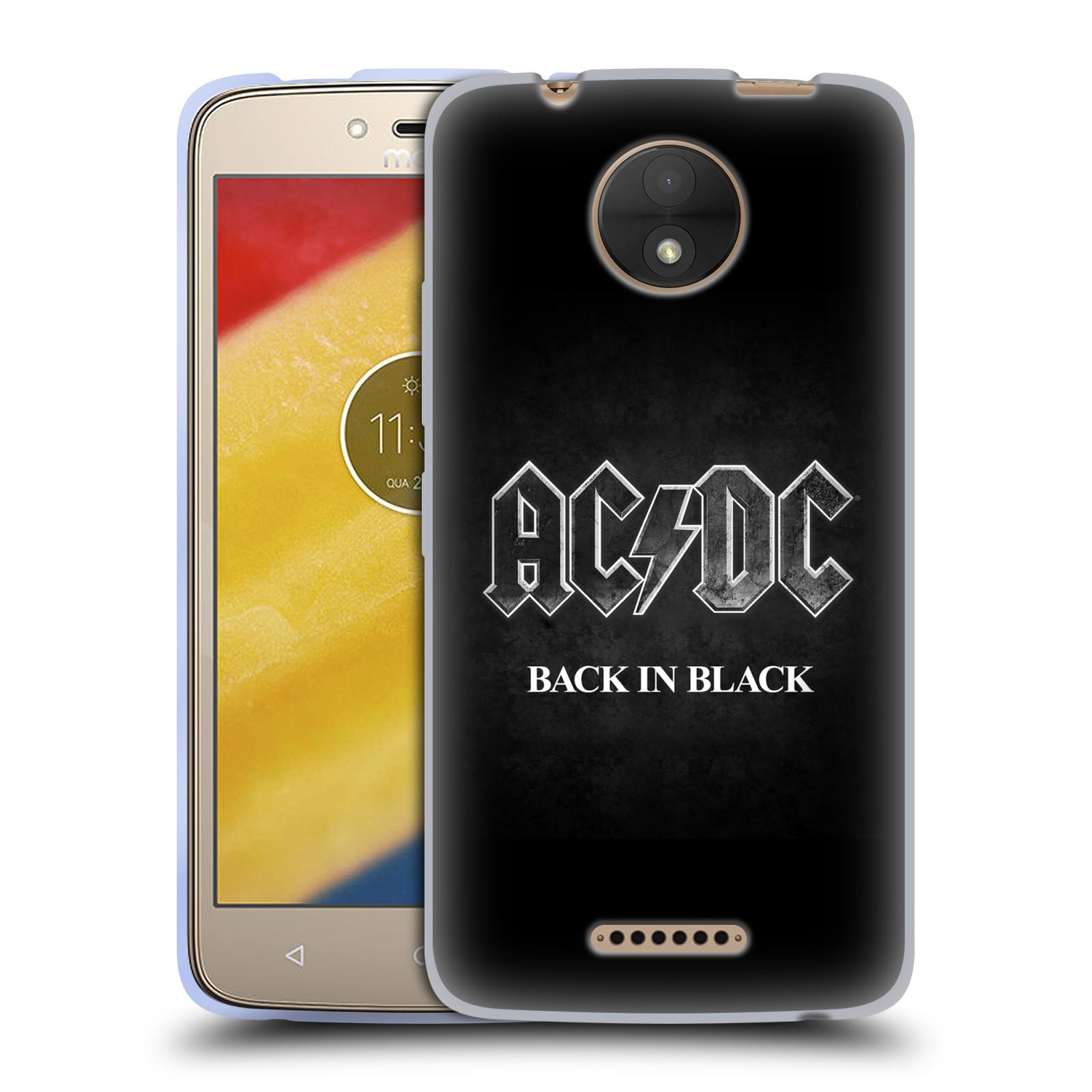 Silikonové pouzdro na mobil Lenovo Moto C - Head Case - AC/DC BACK IN BLACK