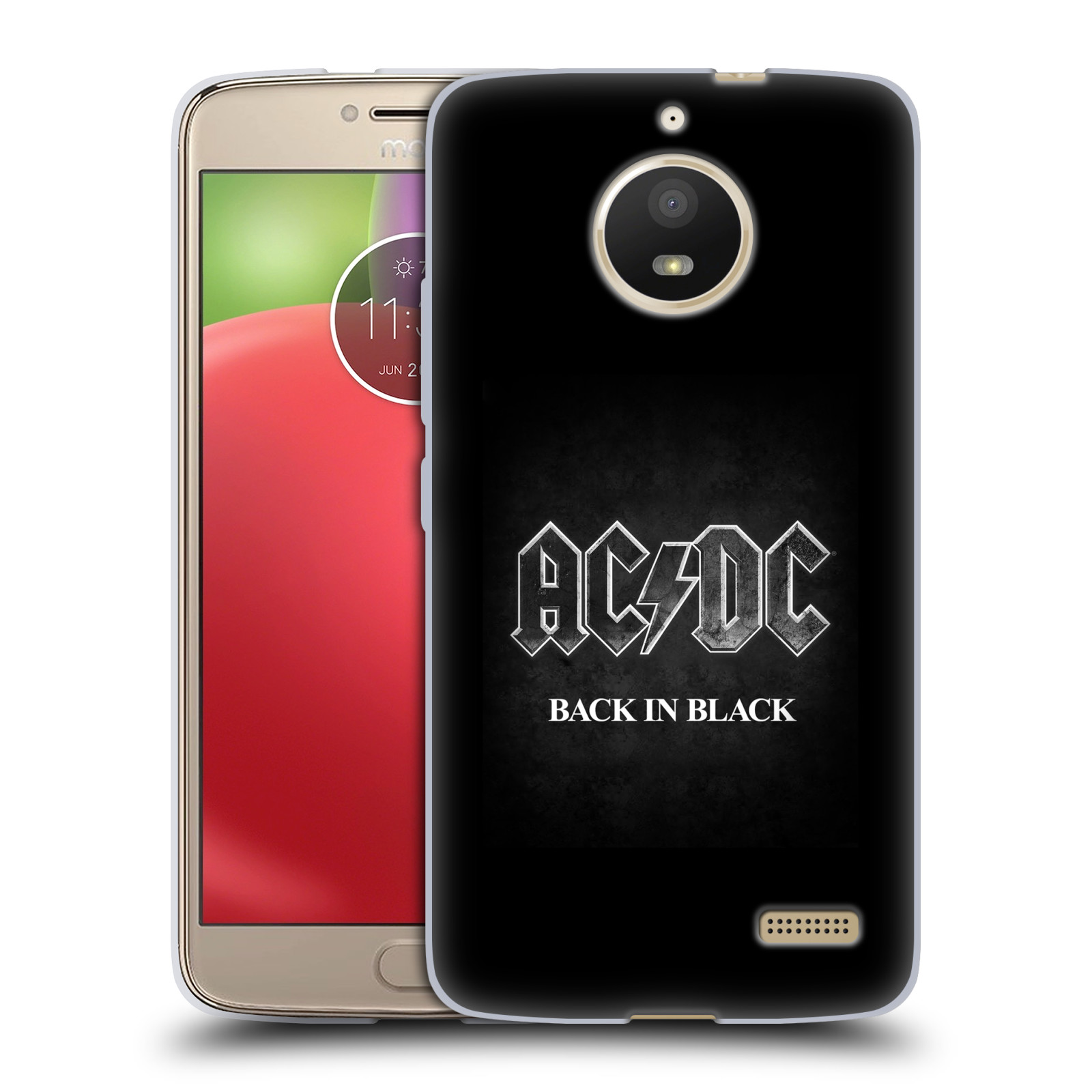 Silikonové pouzdro na mobil Lenovo Moto E4 - Head Case - AC/DC BACK IN BLACK