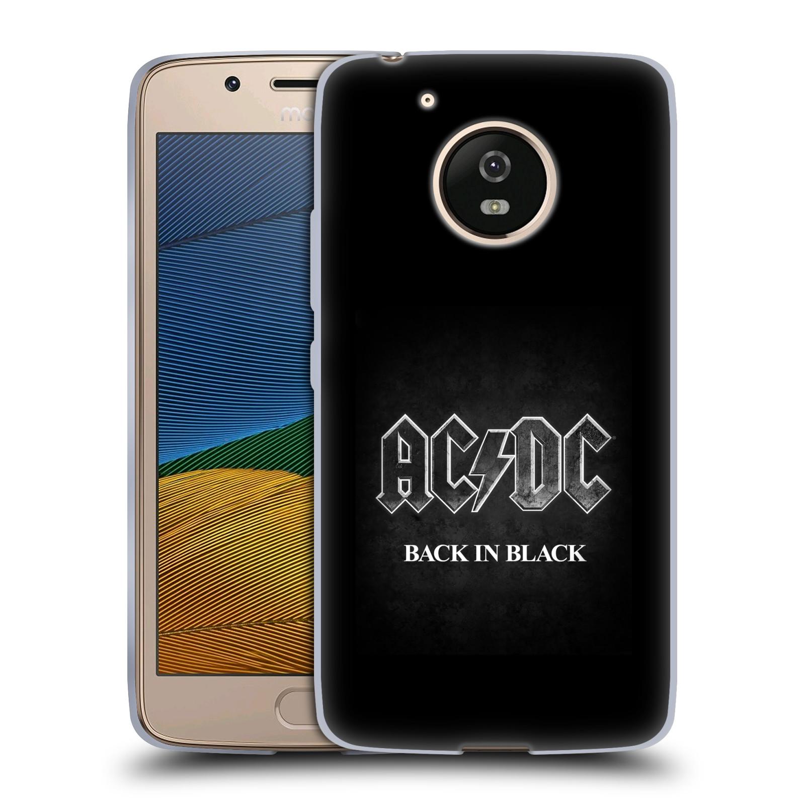 Silikonové pouzdro na mobil Lenovo Moto G5 - Head Case AC/DC BACK IN BLACK