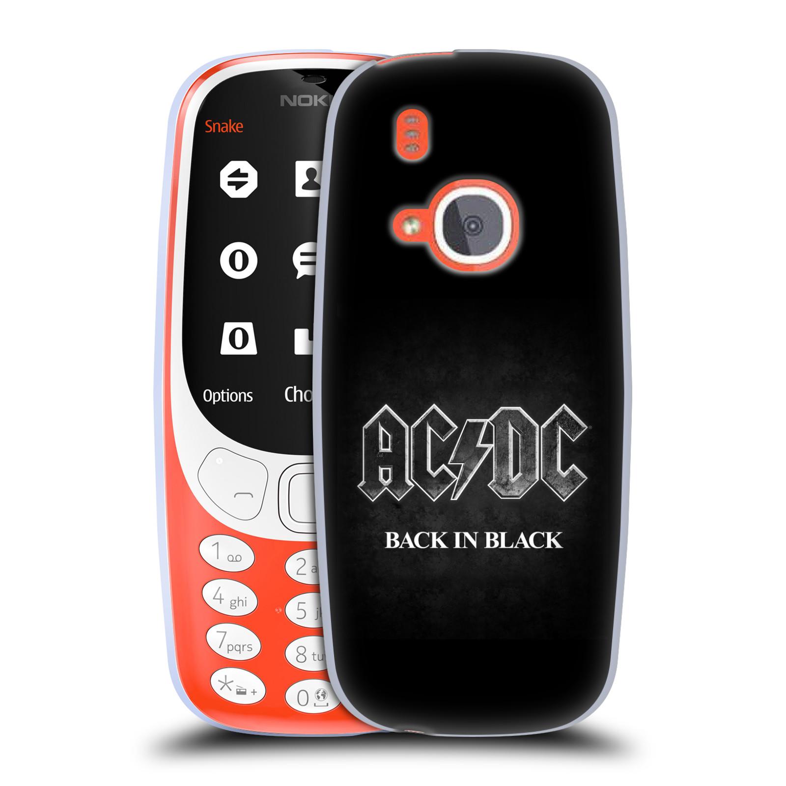 Silikonové pouzdro na mobil Nokia 3310 - Head Case - AC/DC BACK IN BLACK