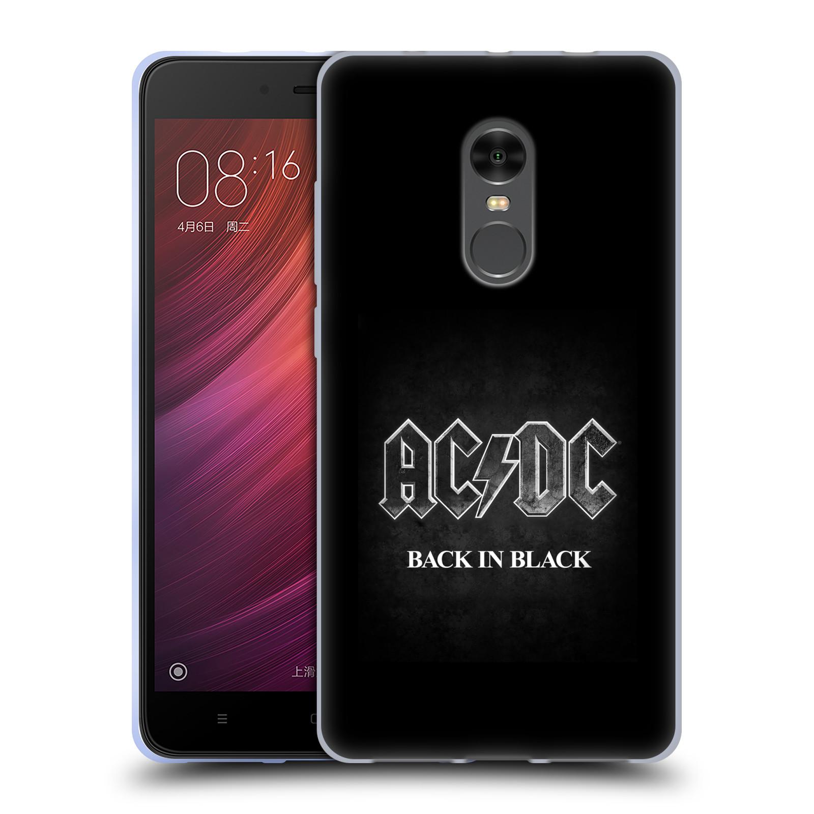 Silikonové pouzdro na mobil Xiaomi Redmi Note 4 - Head Case - AC/DC BACK IN BLACK (Silikonový kryt či obal na mobilní telefon Xiaomi Redmi Note 4 s motivem AC/DC BACK IN BLACK)