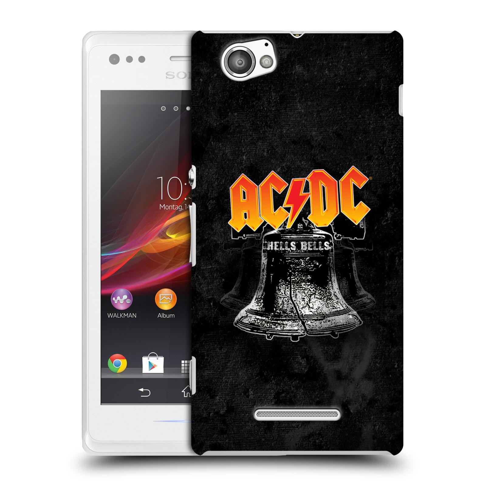 Plastové pouzdro na mobil Sony Xperia M C1905 HEAD CASE AC/DC Hells Bells (Plastový kryt či obal na mobilní telefon s oficiálním motivem australské skupiny AC/DC pro Sony Xperia M )