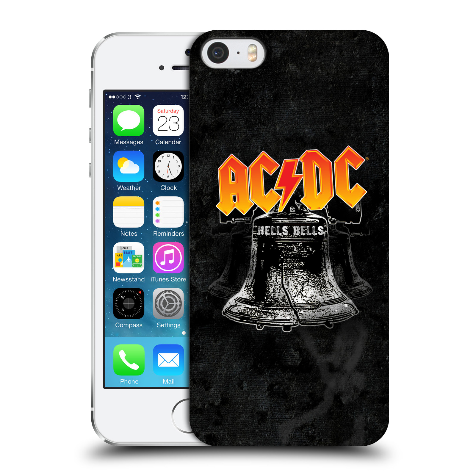 Plastové pouzdro na mobil Apple iPhone SE, 5 a 5S HEAD CASE AC/DC Hells Bells