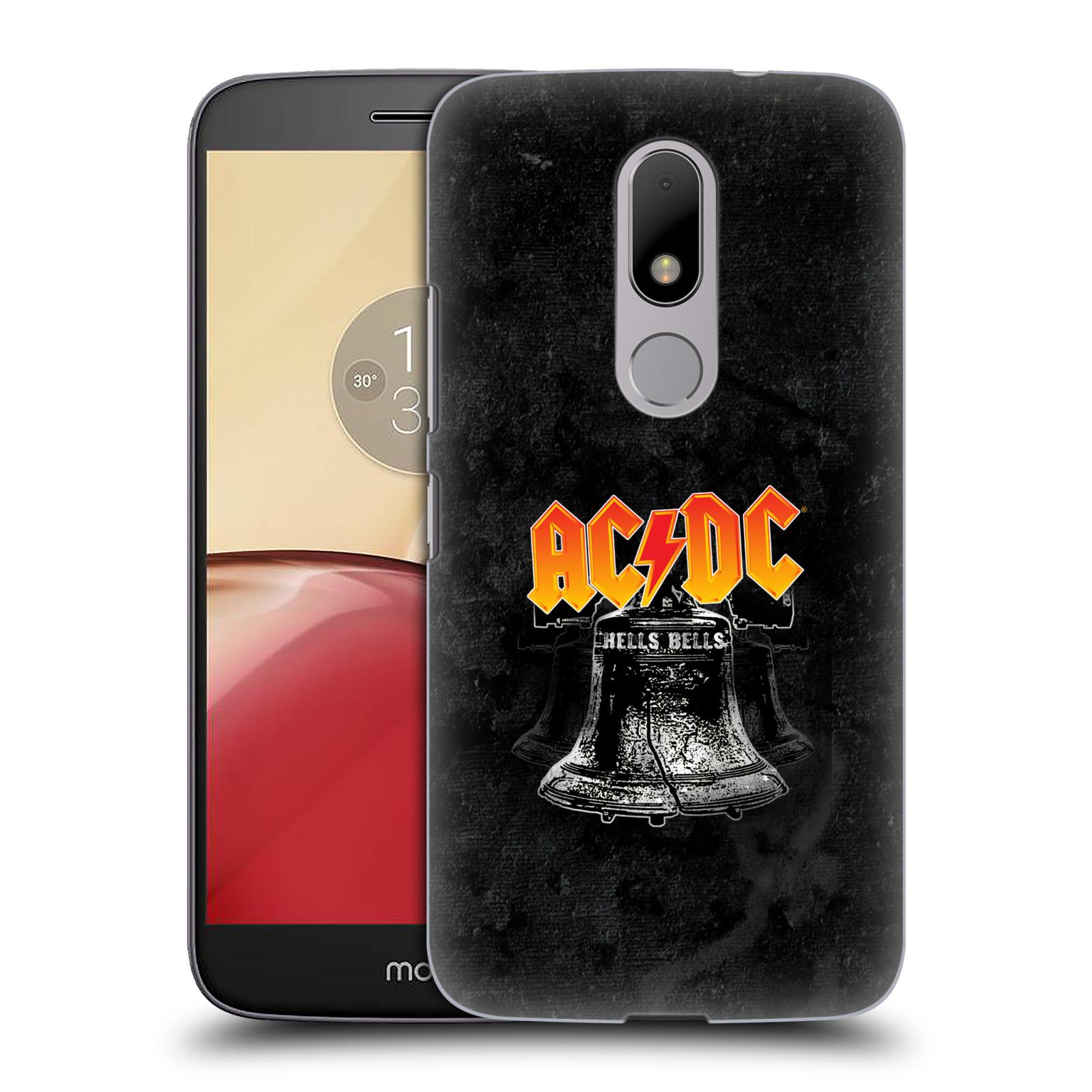 Plastové pouzdro na mobil Lenovo Moto M HEAD CASE AC/DC Hells Bells (Plastový kryt či obal na mobilní telefon s oficiálním motivem australské skupiny AC/DC pro Lenovo (Motorola) Moto M / Moto M Dual SIM)