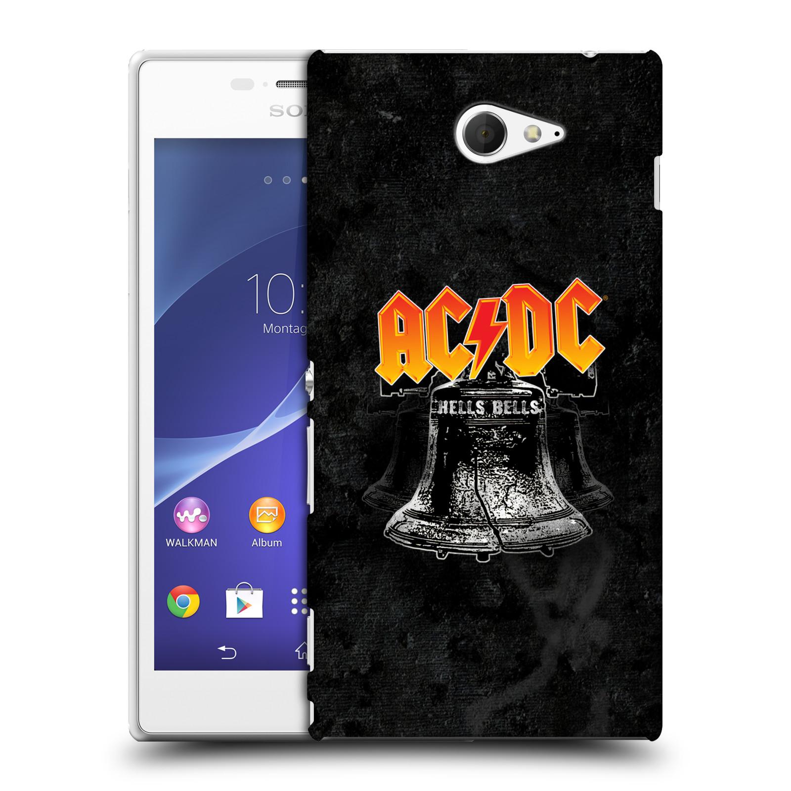 Plastové pouzdro na mobil Sony Xperia M2 D2303 HEAD CASE AC/DC Hells Bells (Plastový kryt či obal na mobilní telefon s oficiálním motivem australské skupiny AC/DC pro Sony Xperia M2 )
