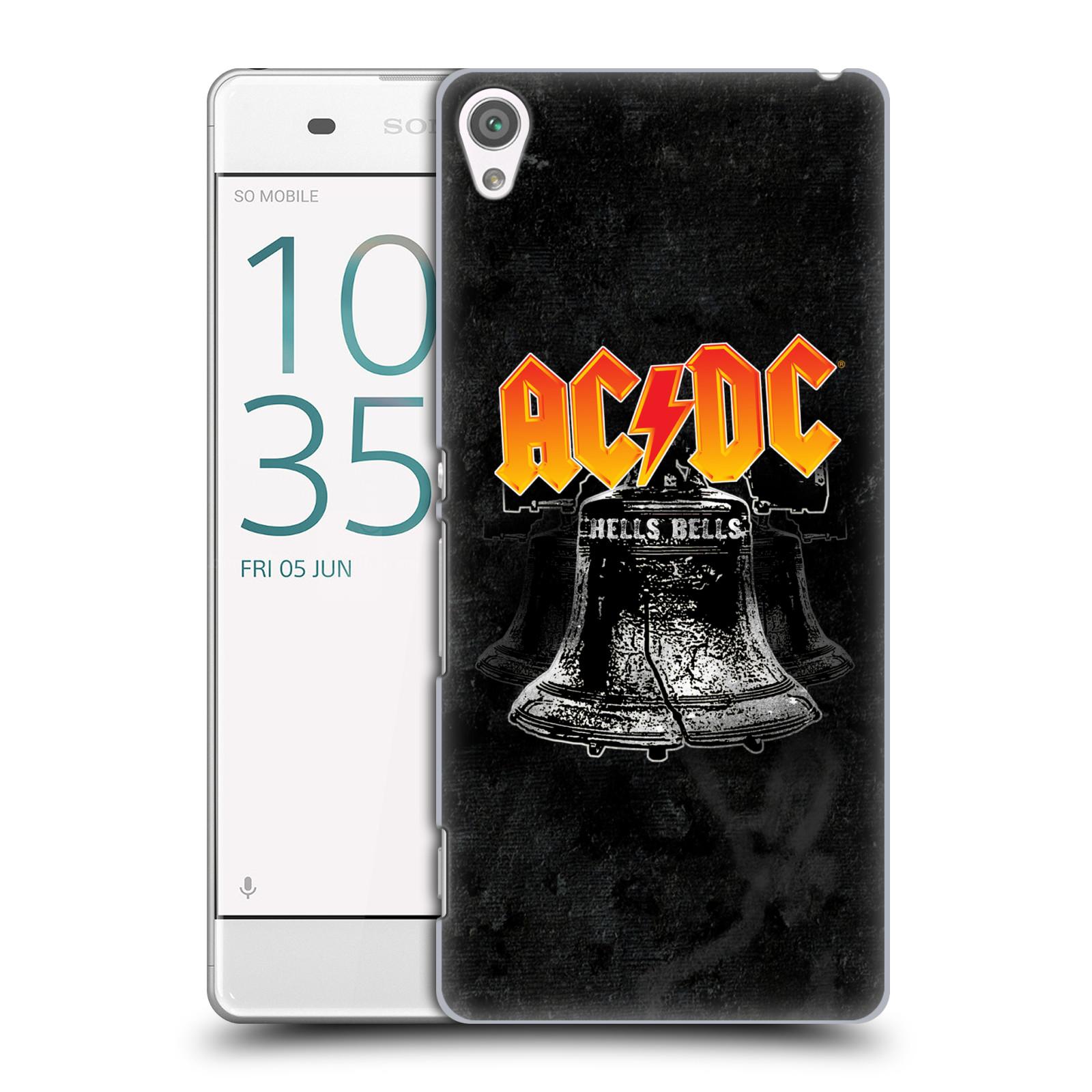 Plastové pouzdro na mobil Sony Xperia XA HEAD CASE AC/DC Hells Bells (Plastový kryt či obal na mobilní telefon s oficiálním motivem australské skupiny AC/DC pro Sony Xperia XA F3111 / Dual F3112)