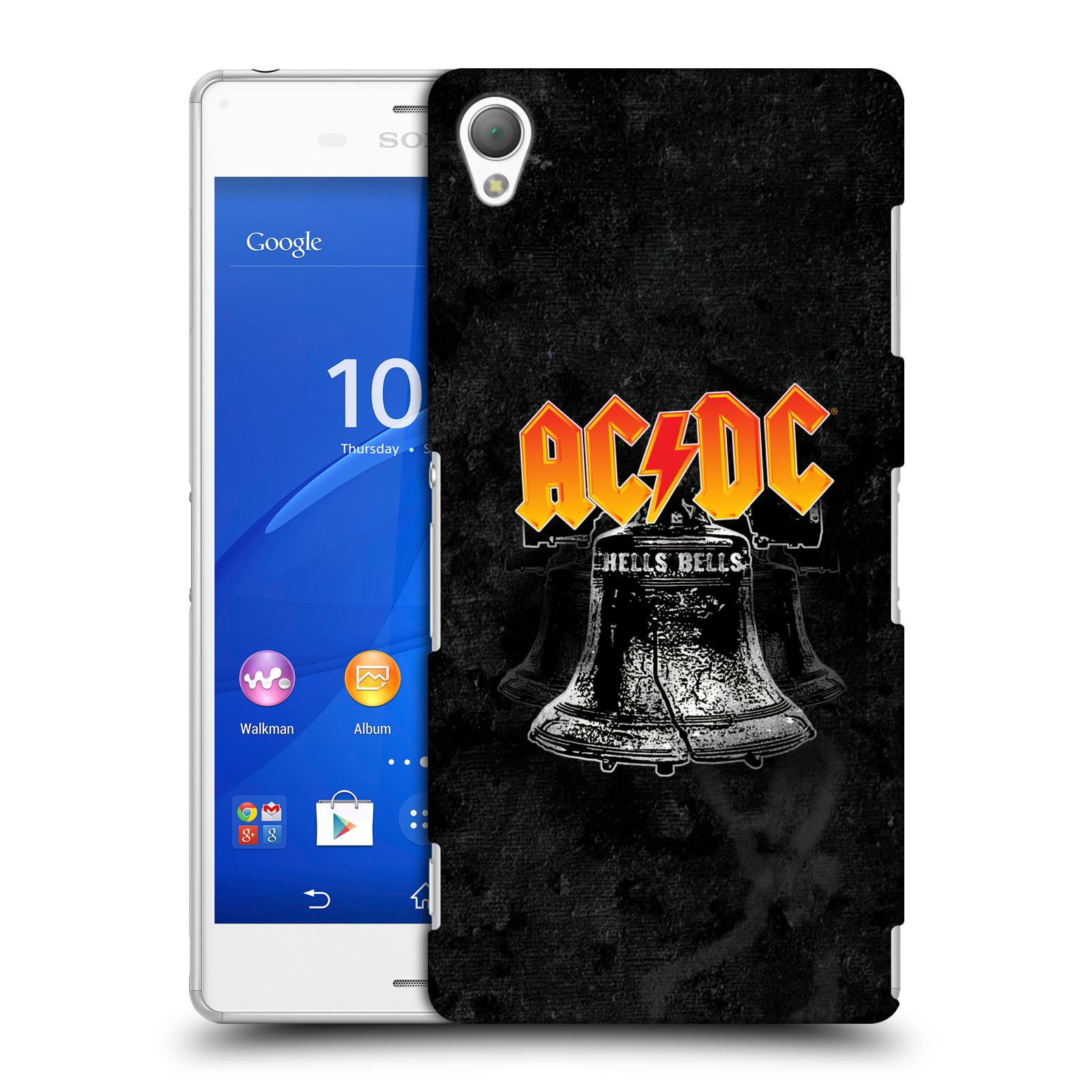 Plastové pouzdro na mobil Sony Xperia Z3 D6603 HEAD CASE AC/DC Hells Bells (Plastový kryt či obal na mobilní telefon s oficiálním motivem australské skupiny AC/DC pro Sony Xperia Z3)