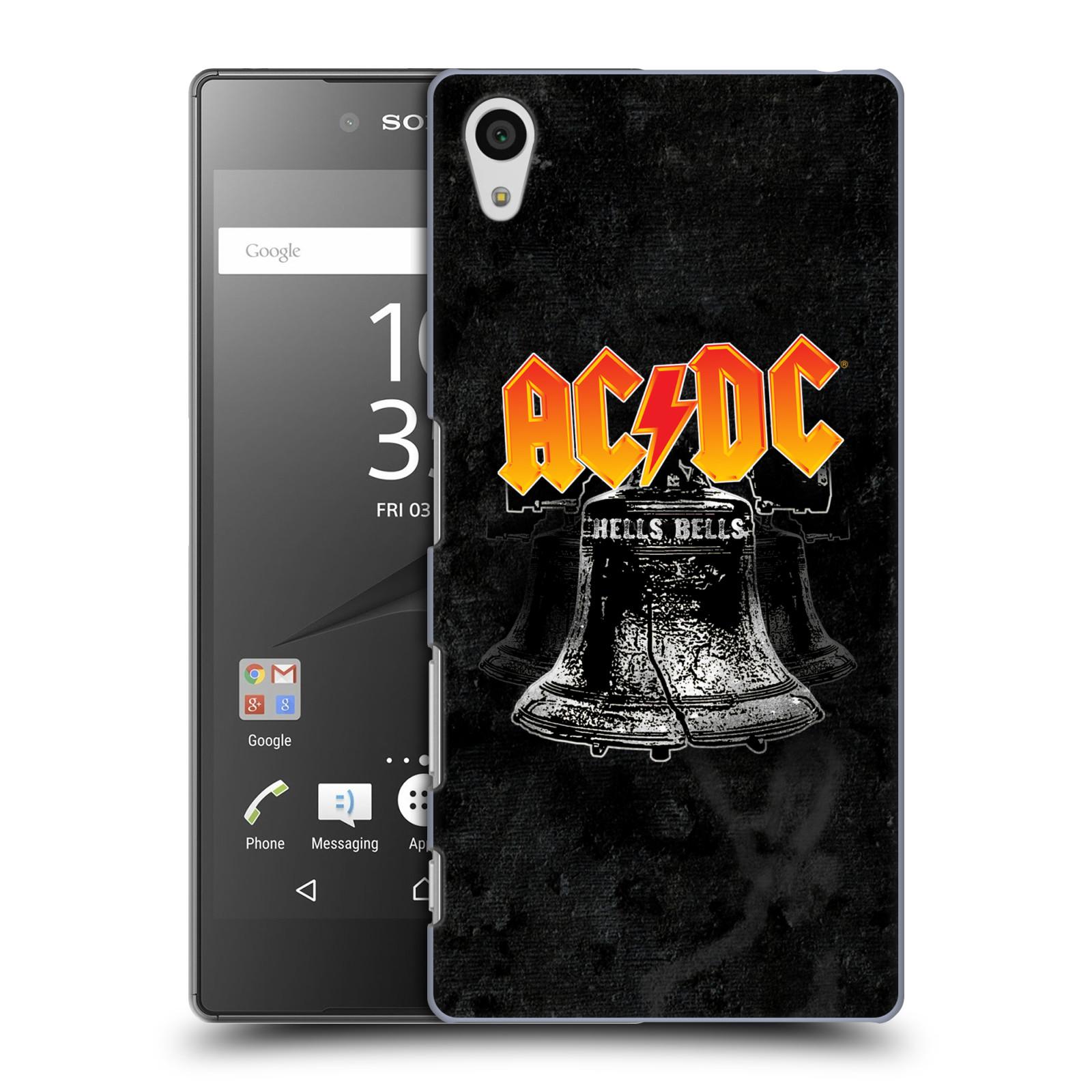 Plastové pouzdro na mobil Sony Xperia Z5 HEAD CASE AC/DC Hells Bells (Plastový kryt či obal na mobilní telefon s oficiálním motivem australské skupiny AC/DC pro Sony Xperia Z5 E6653)