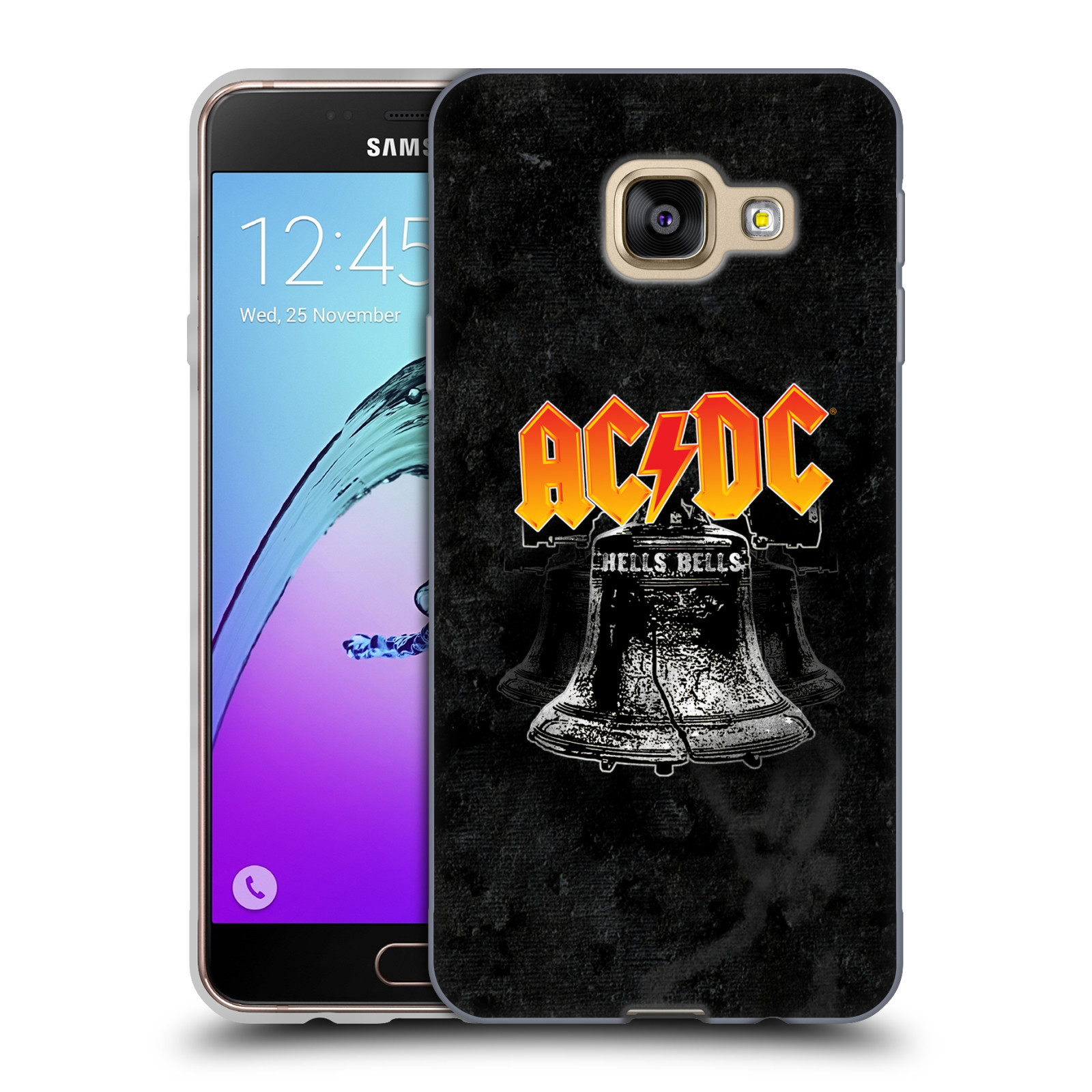 Silikonové pouzdro na mobil Samsung Galaxy A3 (2016) HEAD CASE AC/DC Hells Bells