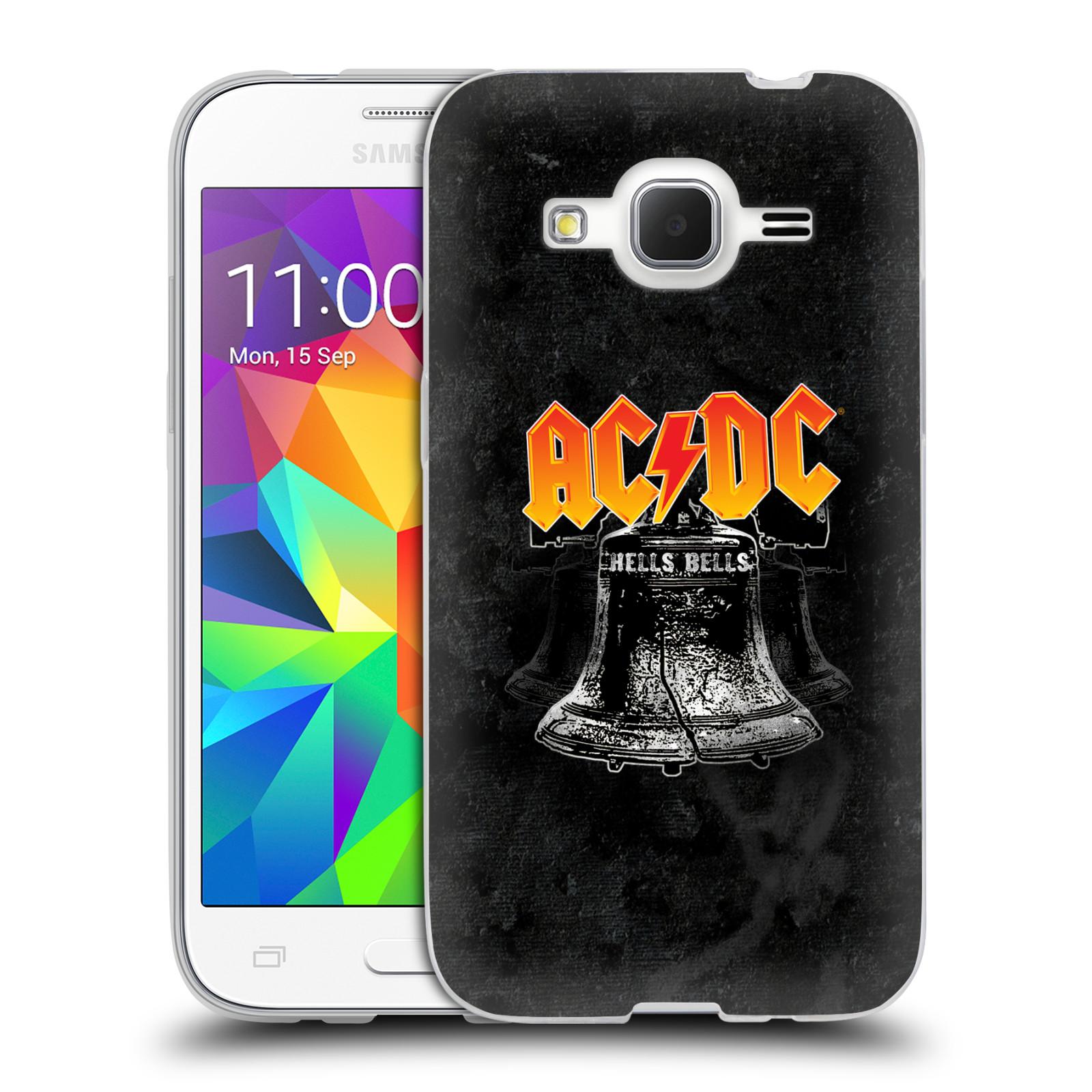 Silikonové pouzdro na mobil Samsung Galaxy Core Prime LTE HEAD CASE AC/DC Hells Bells