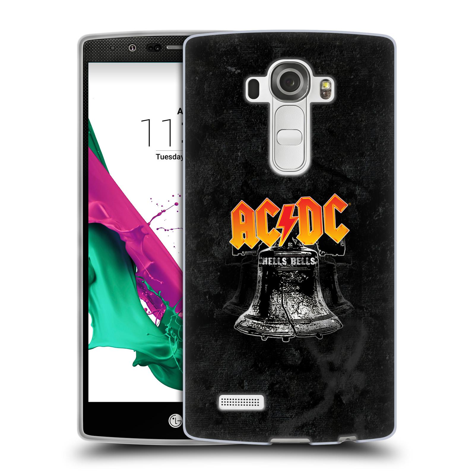 Silikonové pouzdro na mobil LG G4 HEAD CASE AC/DC Hells Bells