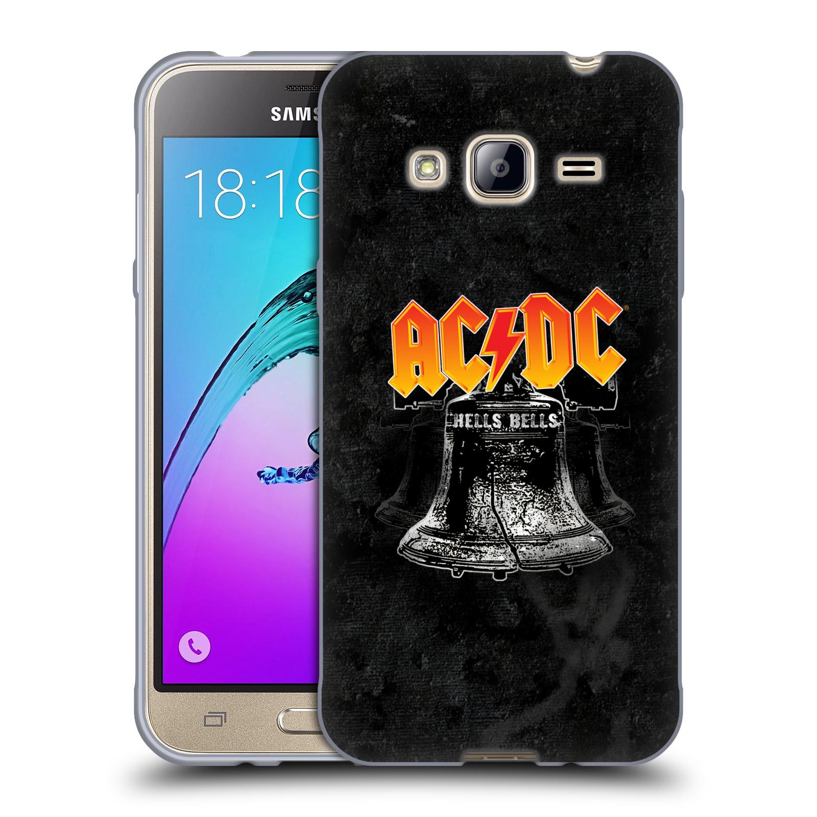Silikonové pouzdro na mobil Samsung Galaxy J3 (2016) HEAD CASE AC/DC Hells Bells