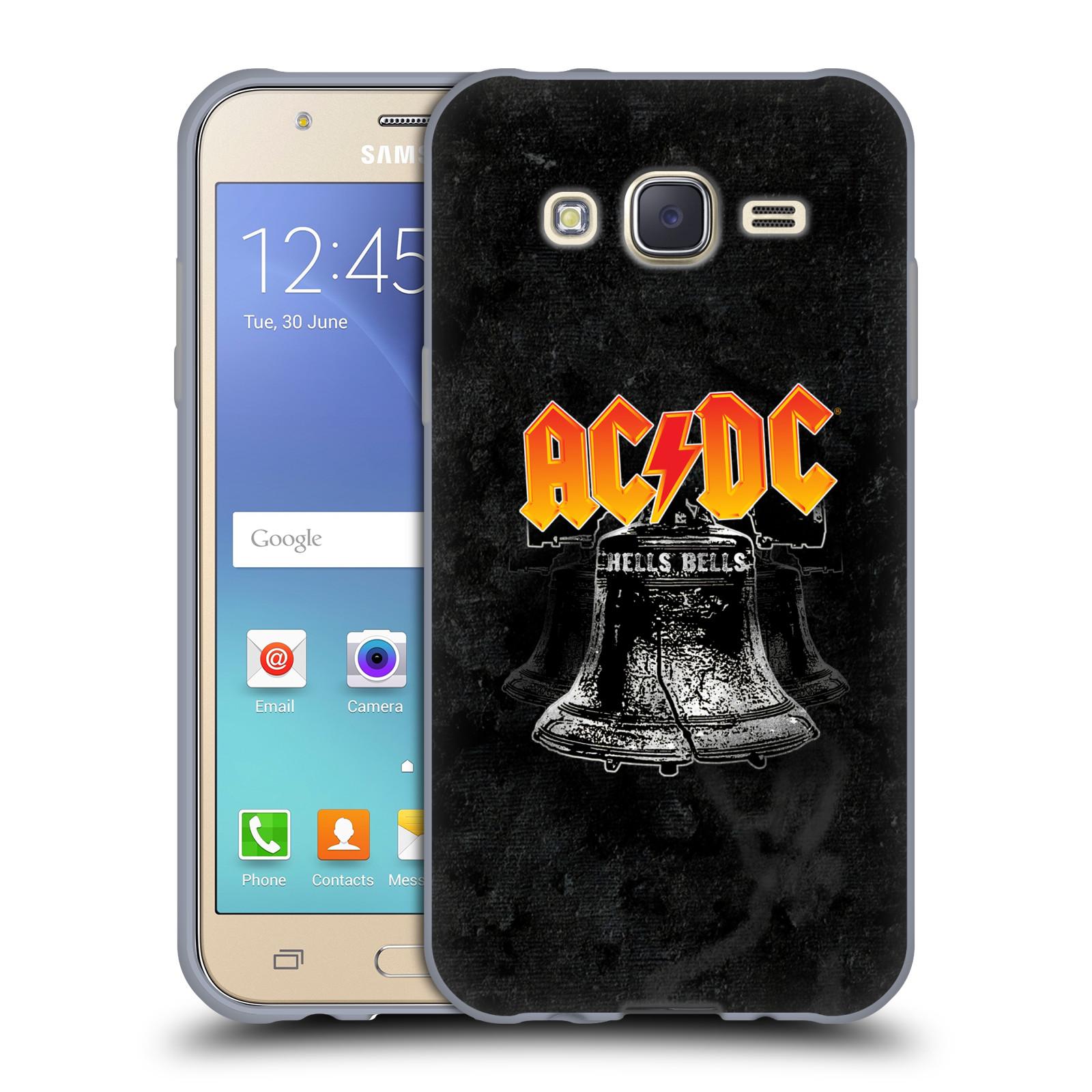 Silikonové pouzdro na mobil Samsung Galaxy J5 HEAD CASE AC/DC Hells Bells