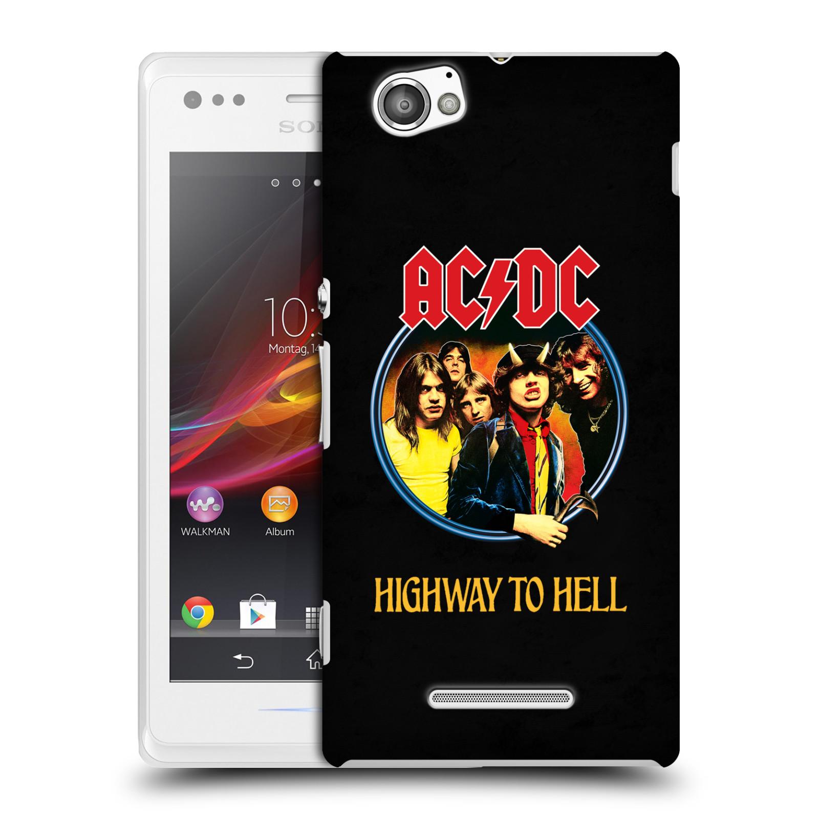 Plastové pouzdro na mobil Sony Xperia M C1905 HEAD CASE AC/DC Highway to Hell (Plastový kryt či obal na mobilní telefon s oficiálním motivem australské skupiny AC/DC pro Sony Xperia M )