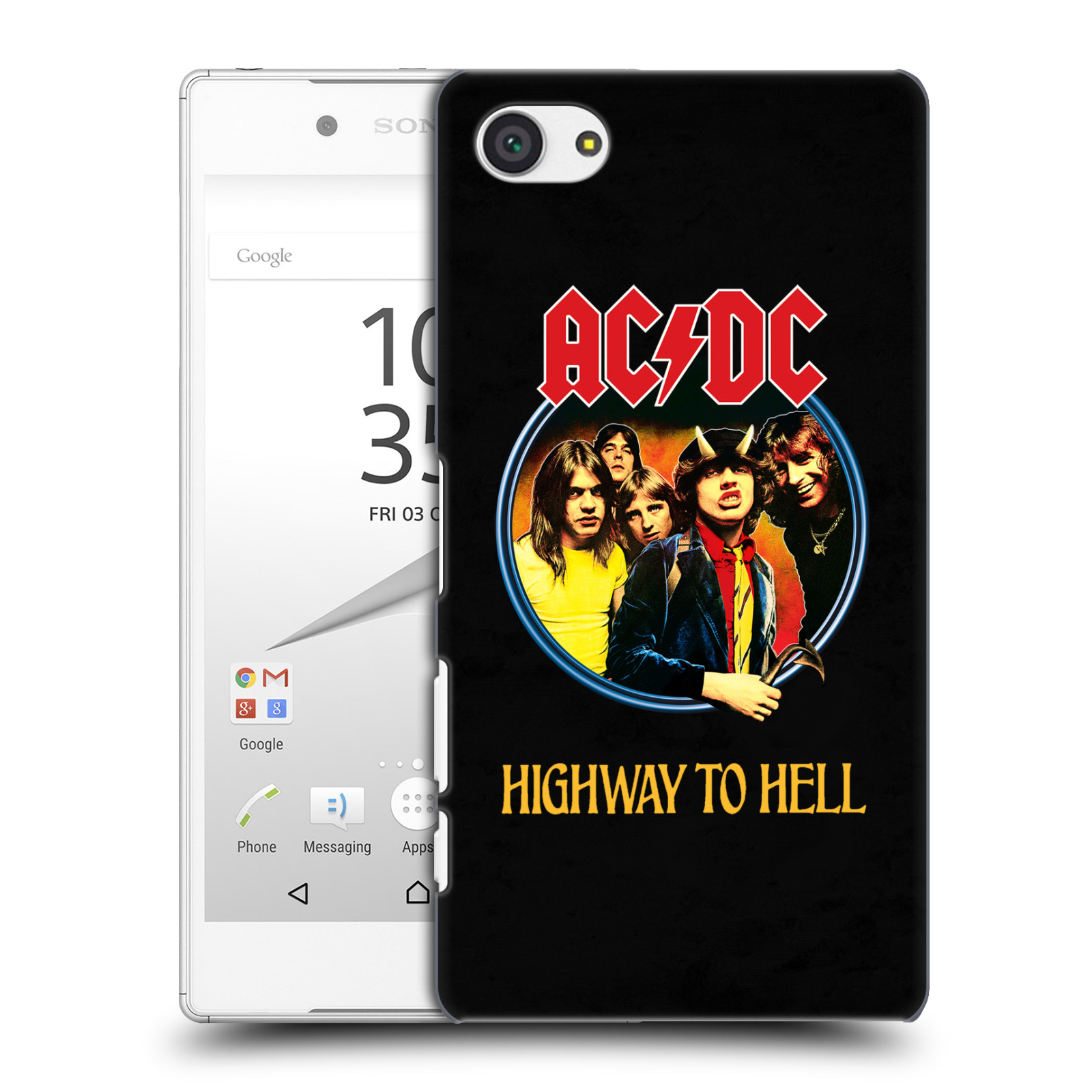 Plastové pouzdro na mobil Sony Xperia Z5 Compact HEAD CASE AC/DC Highway to Hell (Plastový kryt či obal na mobilní telefon s oficiálním motivem australské skupiny AC/DC pro Sony Xperia Z5 Compact E5823)