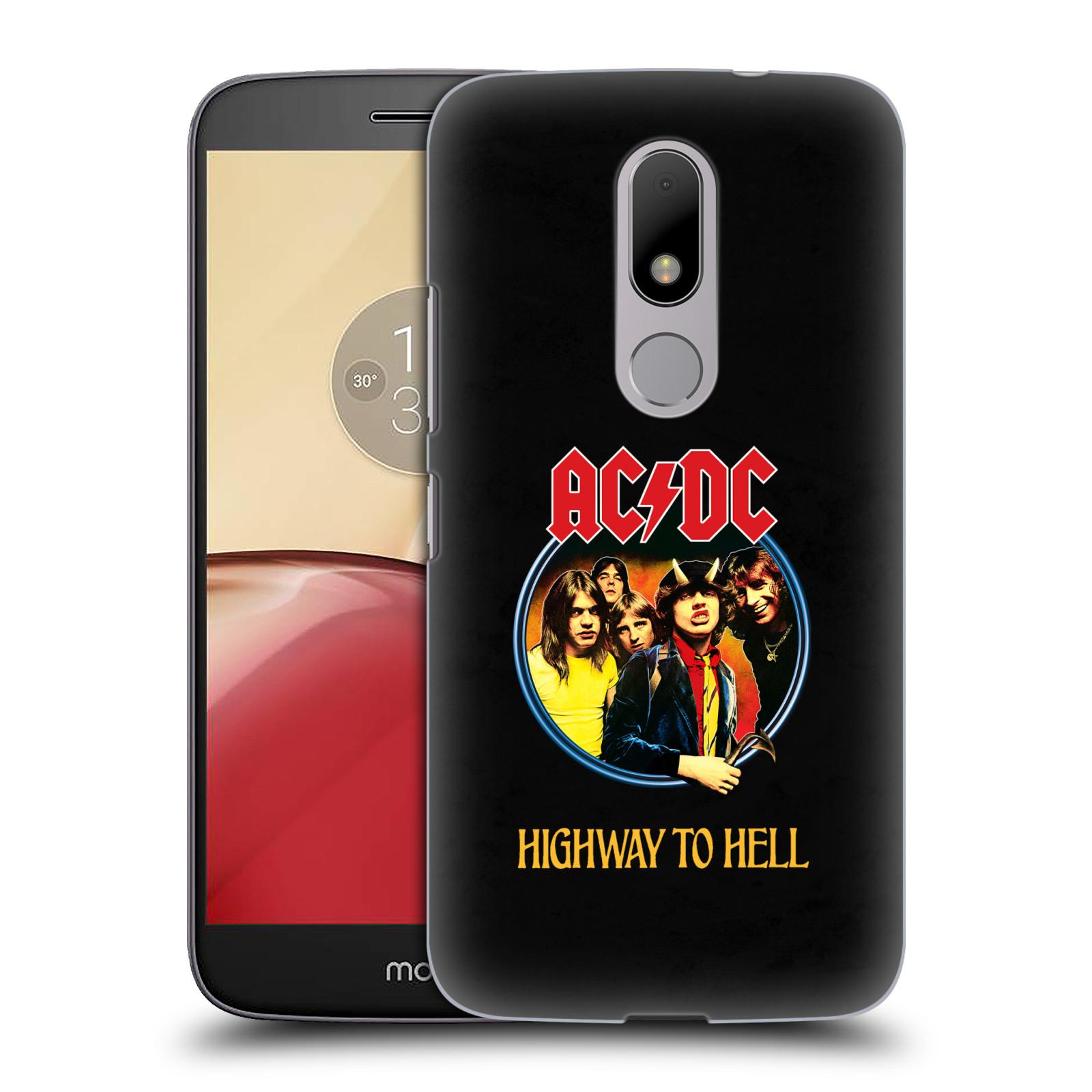 Plastové pouzdro na mobil Lenovo Moto M HEAD CASE AC/DC Highway to Hell (Plastový kryt či obal na mobilní telefon s oficiálním motivem australské skupiny AC/DC pro Lenovo (Motorola) Moto M / Moto M Dual SIM)
