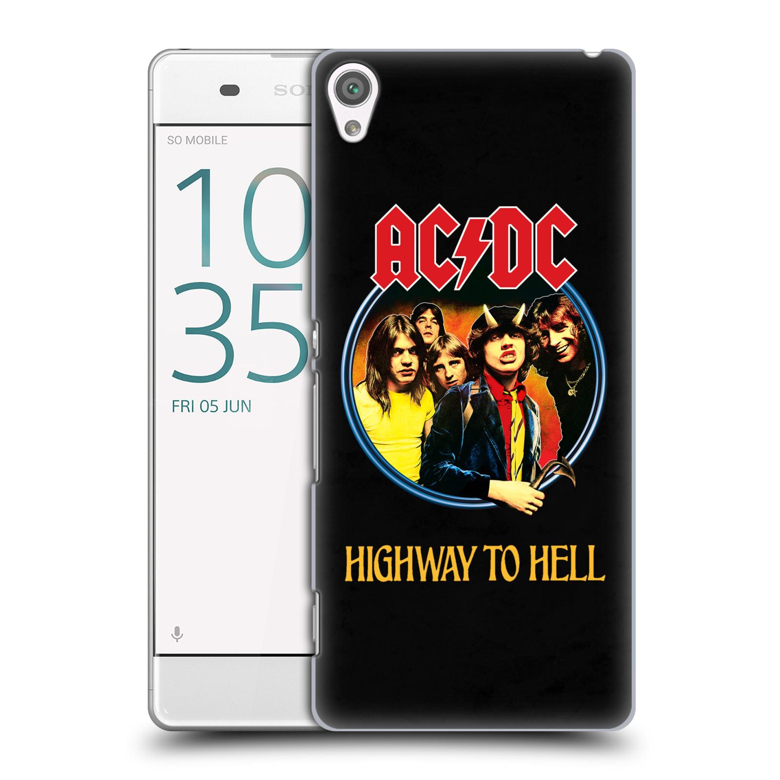 Plastové pouzdro na mobil Sony Xperia XA HEAD CASE AC/DC Highway to Hell (Plastový kryt či obal na mobilní telefon s oficiálním motivem australské skupiny AC/DC pro Sony Xperia XA F3111 / Dual F3112)