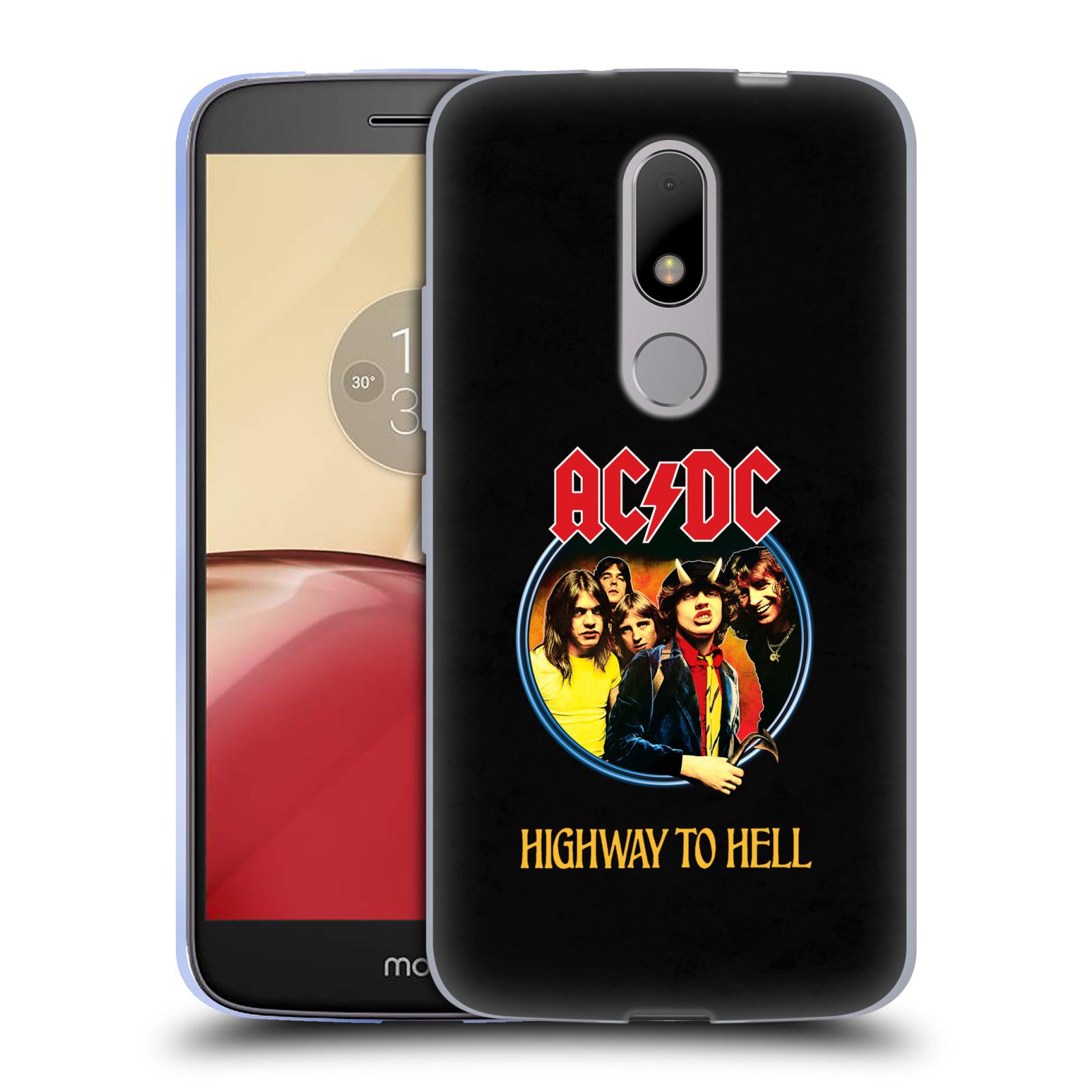 Silikonové pouzdro na mobil Lenovo Moto M - Head Case AC/DC Highway to Hell (Silikonový kryt či obal na mobilní telefon s oficiálním motivem australské skupiny AC/DC pro Lenovo Moto M (Dual Sim))