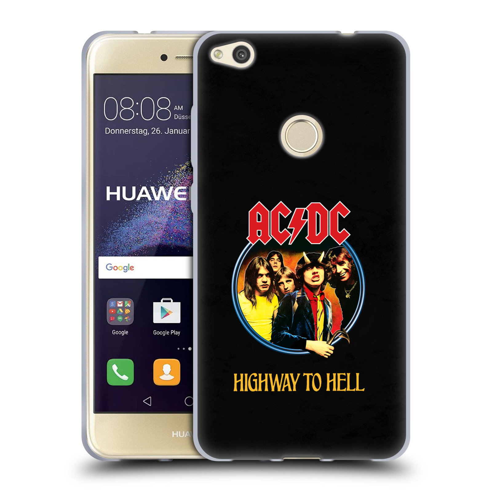 Silikonové pouzdro na mobil Huawei P9 Lite (2017) HEAD CASE AC/DC Highway to Hell