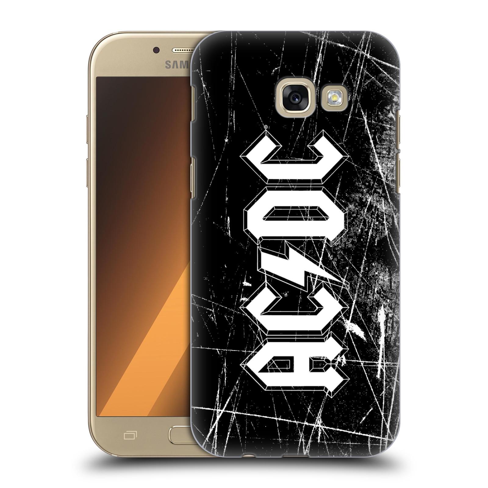 Plastové pouzdro na mobil Samsung Galaxy A5 (2017) HEAD CASE AC/DC Černobílé logo
