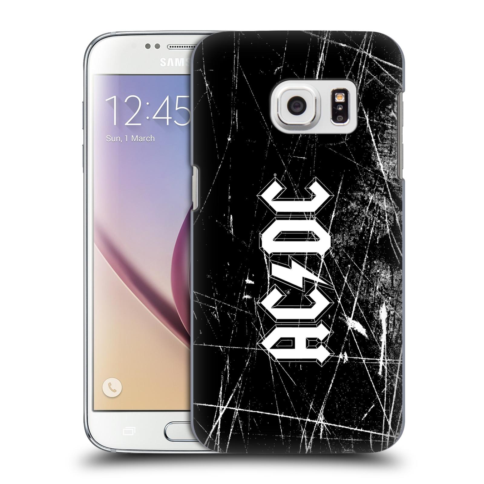 Plastové pouzdro na mobil Samsung Galaxy S7 HEAD CASE AC/DC Černobílé logo