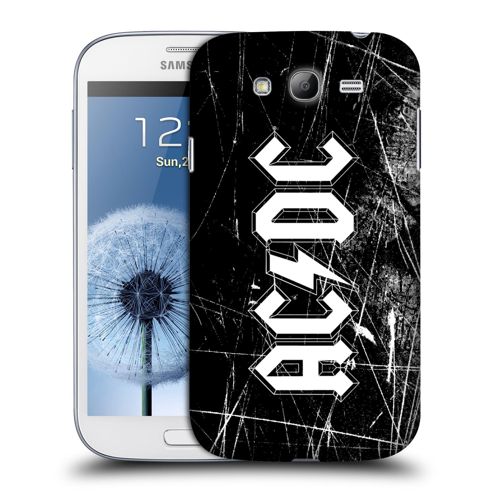 Plastové pouzdro na mobil Samsung Galaxy Grand Neo Plus HEAD CASE AC/DC Černobílé logo