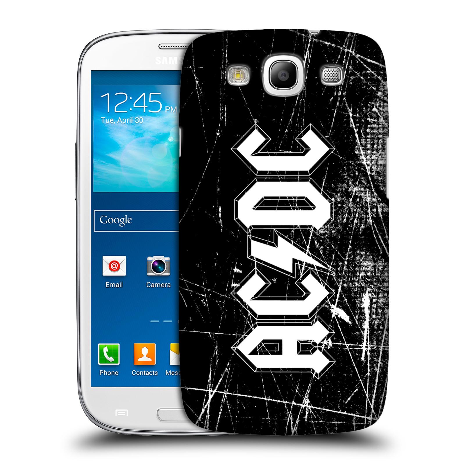 Plastové pouzdro na mobil Samsung Galaxy S III HEAD CASE AC/DC Černobílé logo